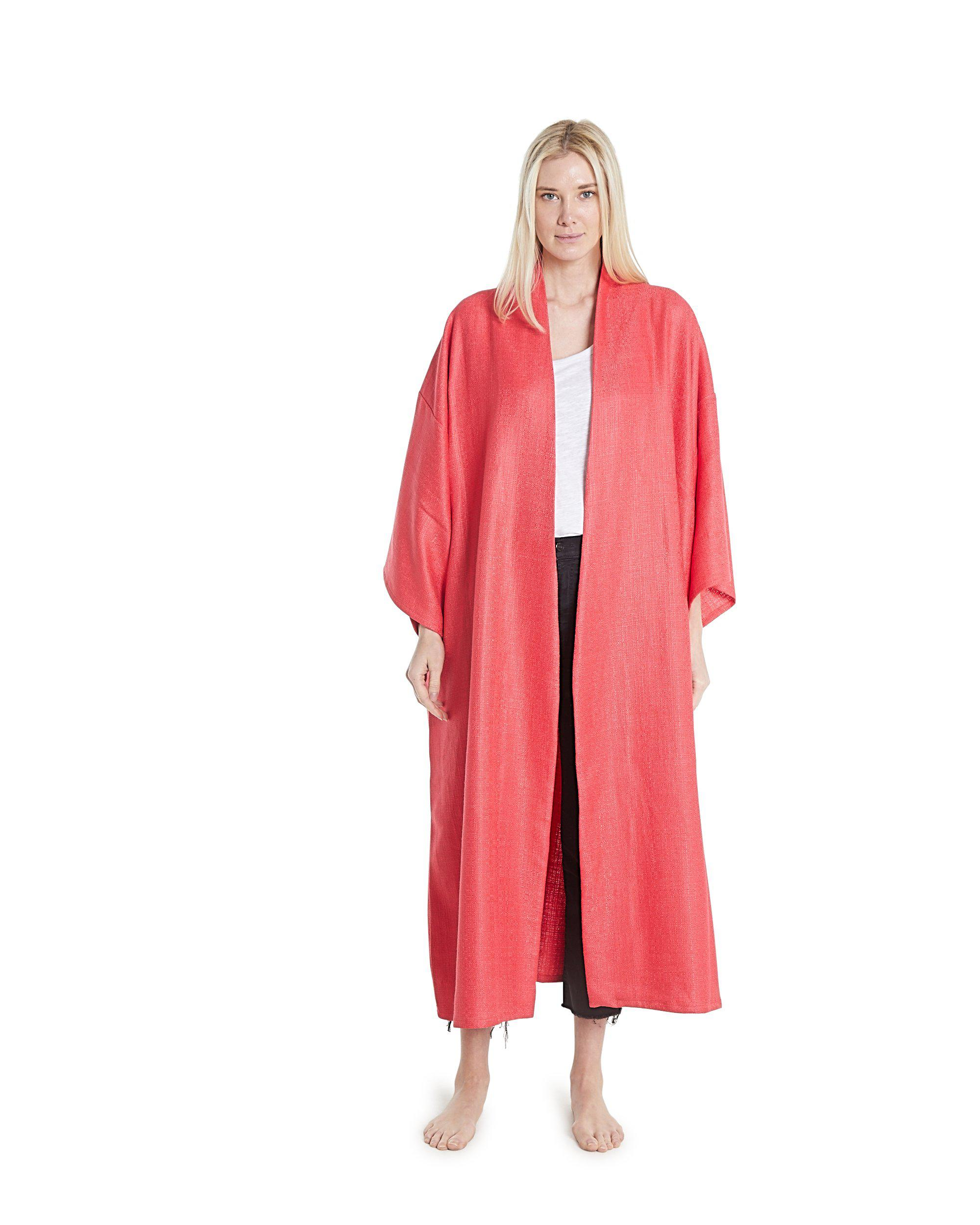 no. 4036 coral linen duster