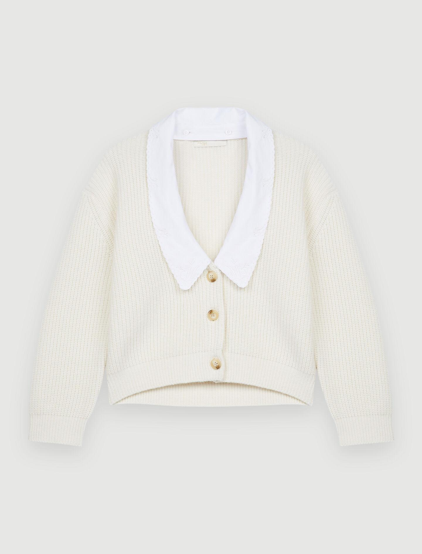 CROPPED CARDIGAN WITH LARGE COLLAR 5
