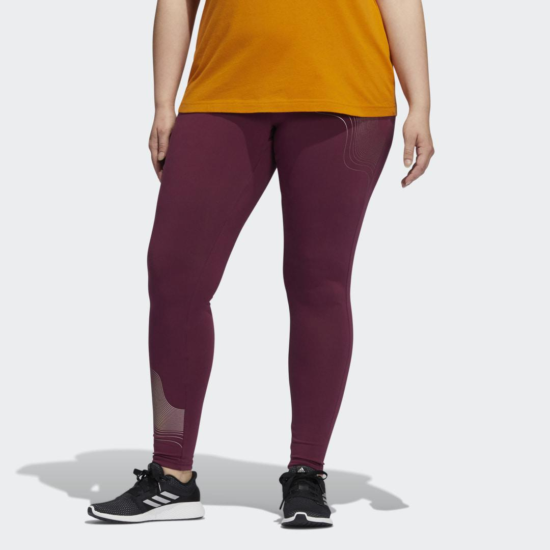 Holiday Graphic Tights (Plus Size) Victory Crimson