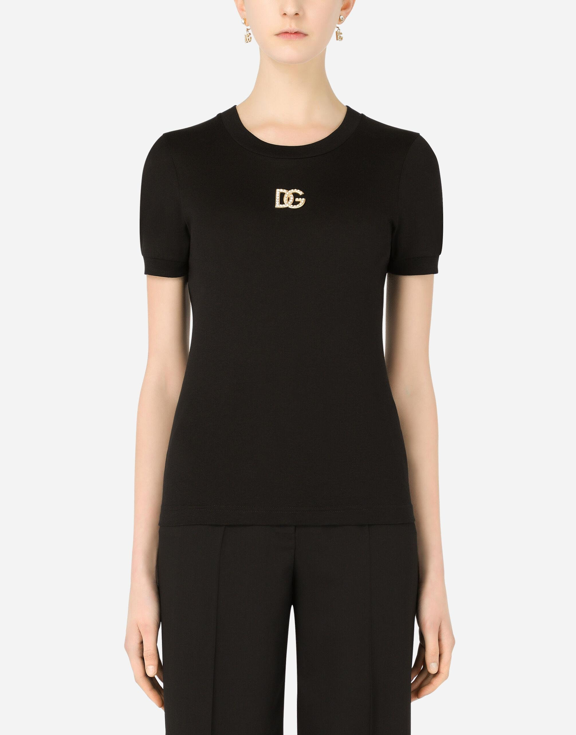 Jersey T-shirt with DG embellishment