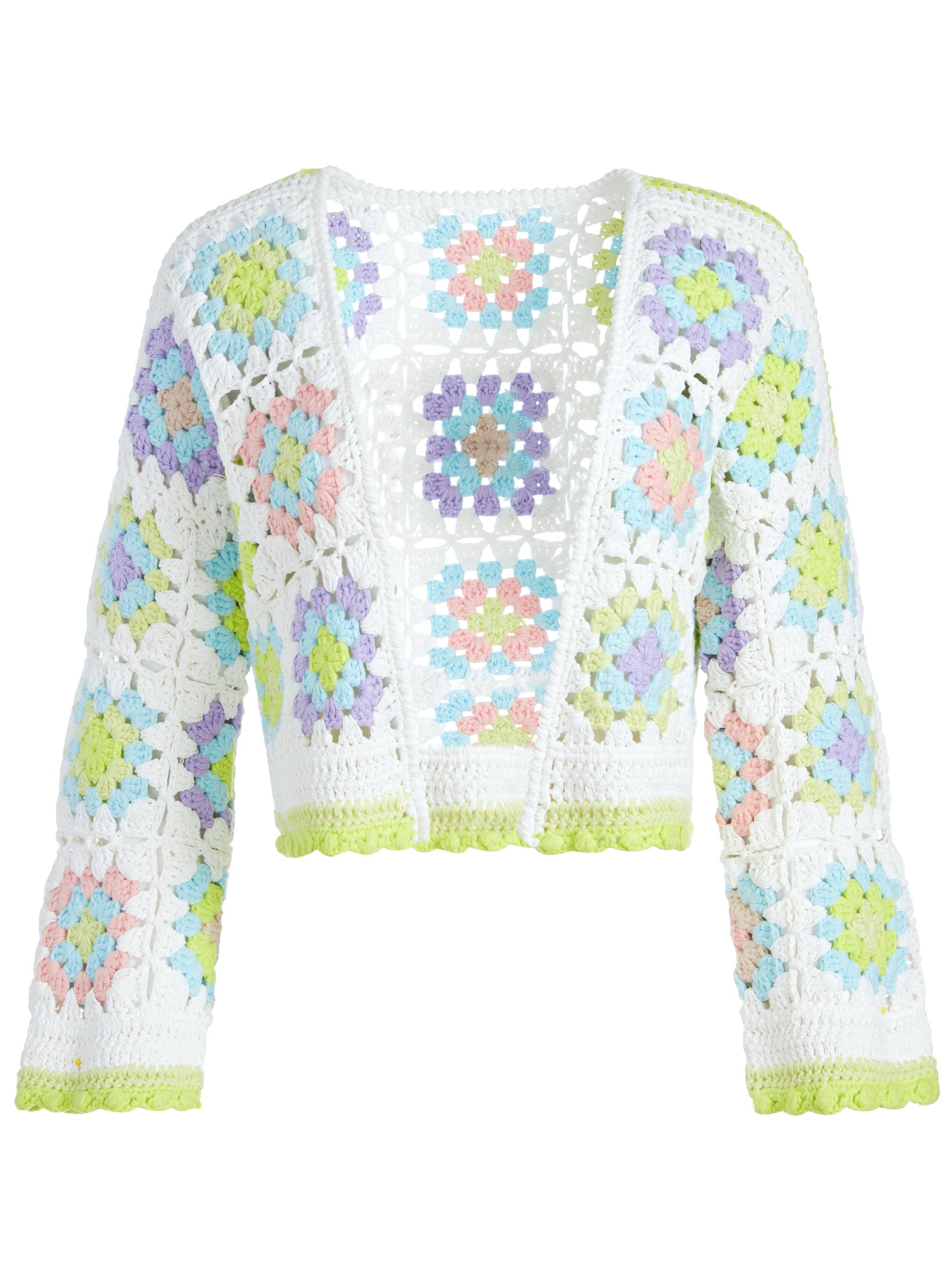 ANDERSON CROPPED CROCHETED CARDIGAN 4