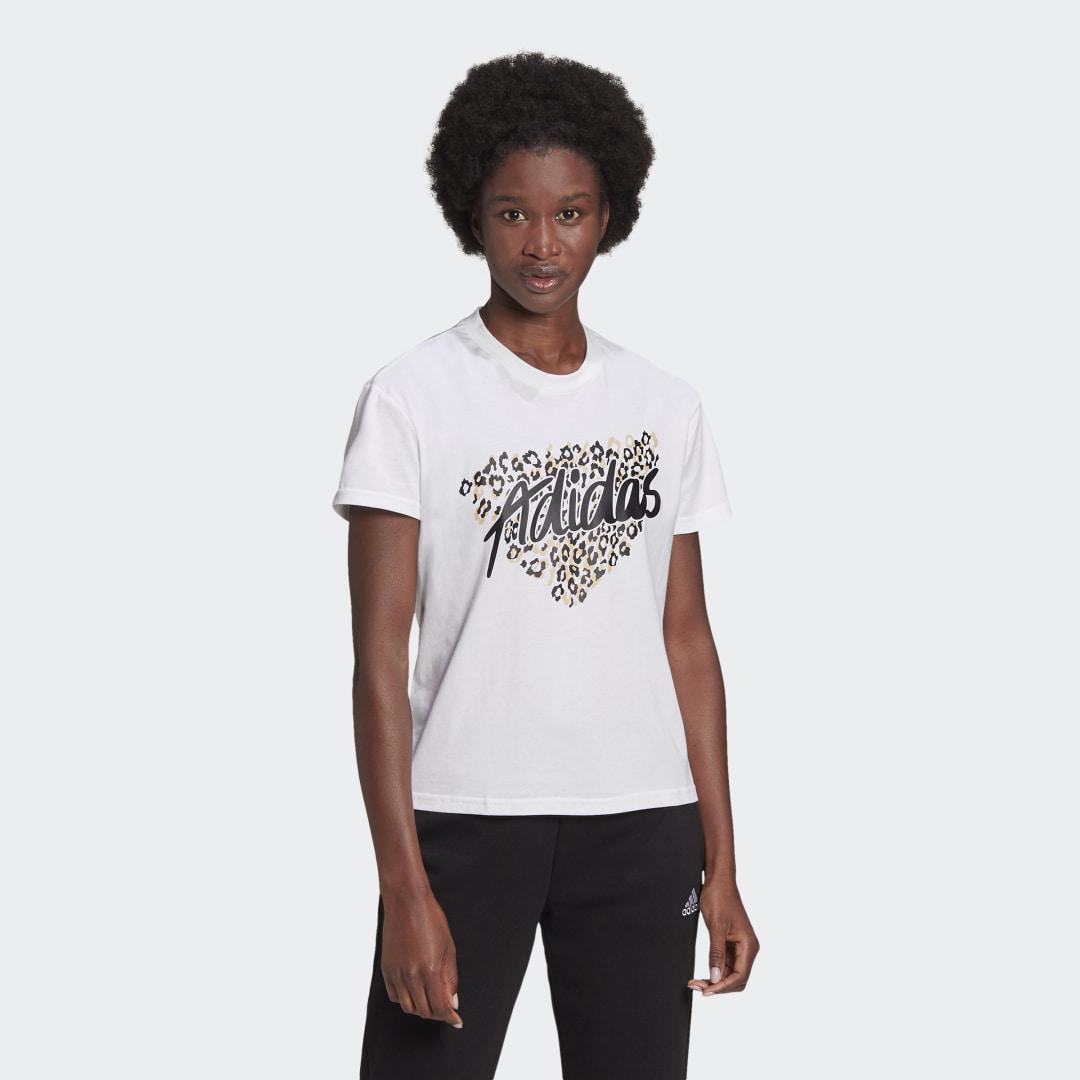 Leopard Graphic Tee White