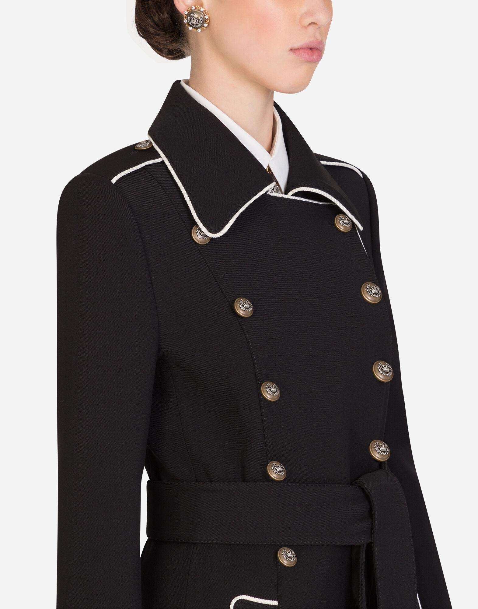 Woolen peacoat with decorative buttons 4