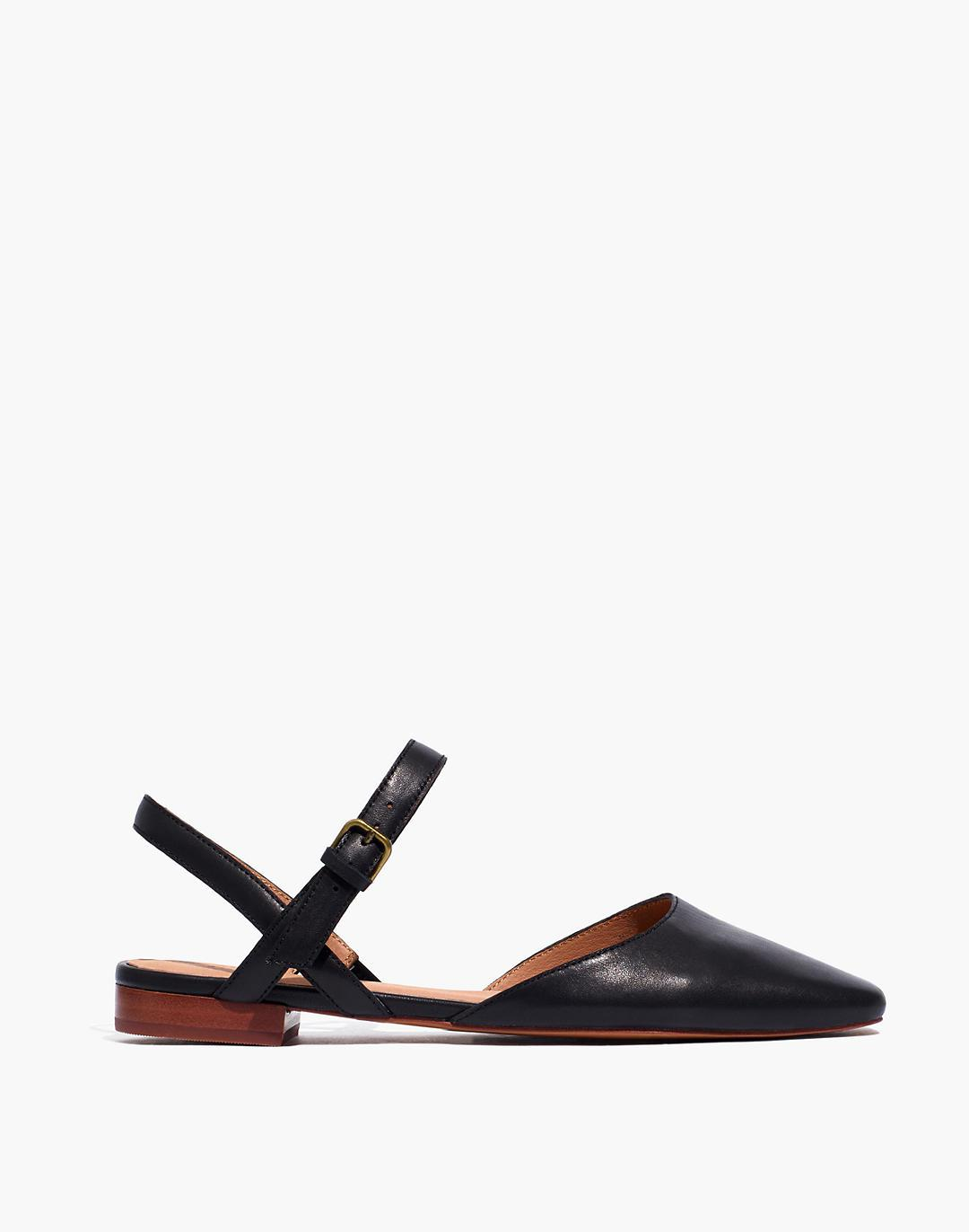 The Jeanne Slingback Flat in Leather 1