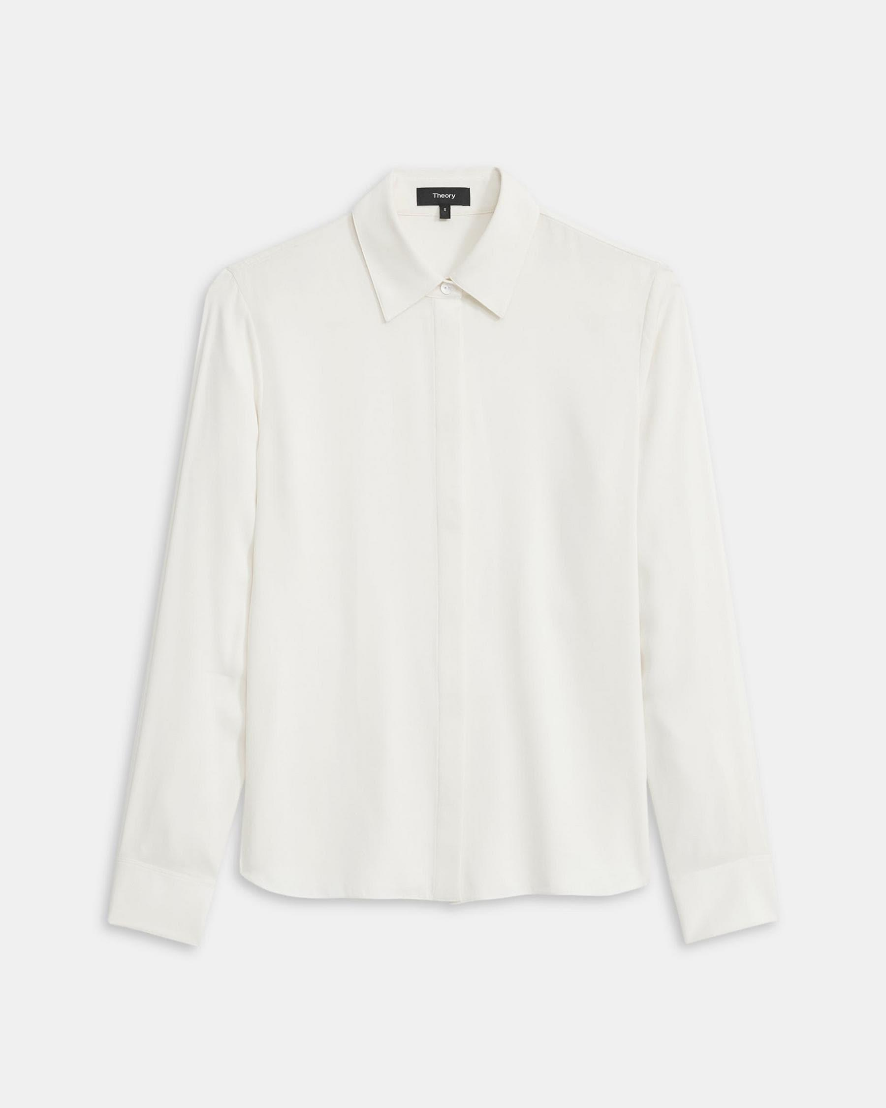 Fitted Shirt in Stretch Silk 4