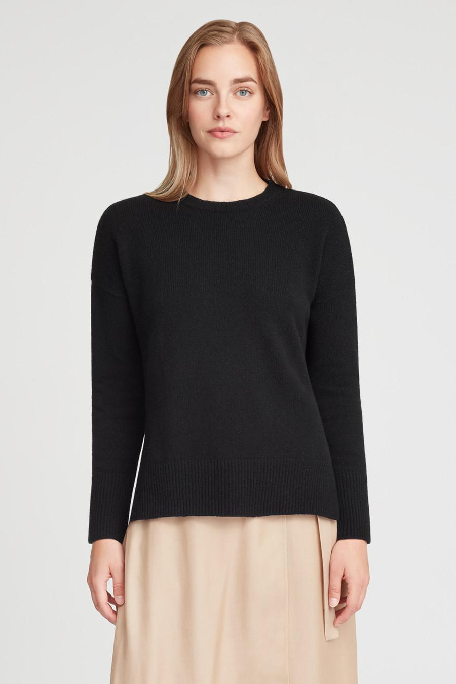 Women's Recycled Crewneck Sweater in Black   Size: 2