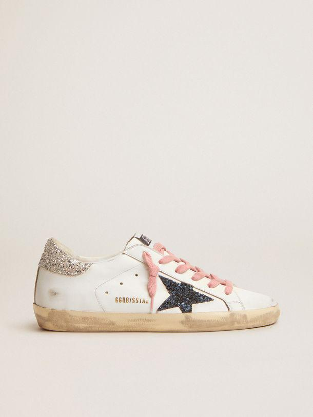 Super-Star LTD sneakers with colored glitter star and heel tab