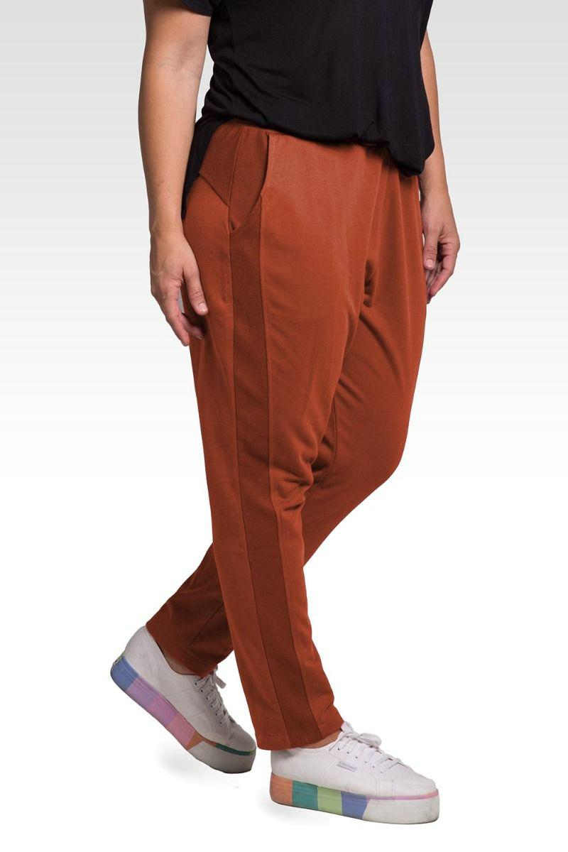 Meghan Women's Plus Size Reverse Side Panel With Pockets Trouser Jogger