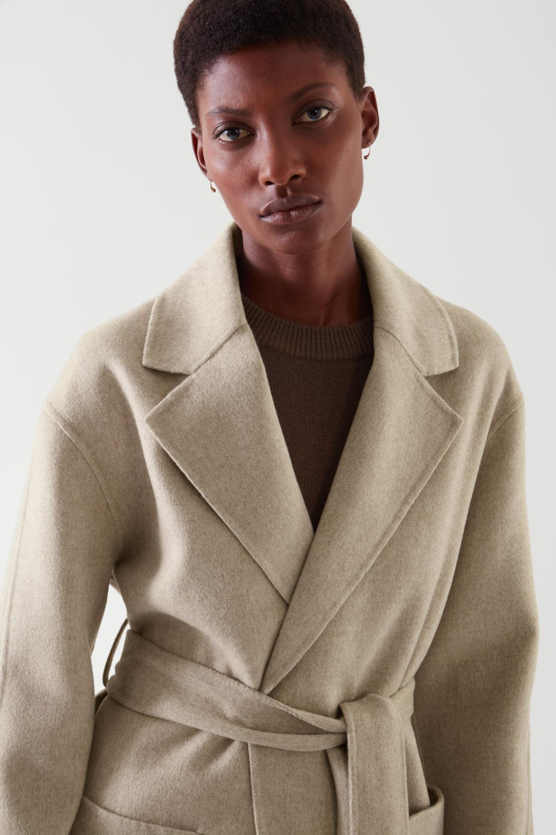 BELTED WRAP COAT 6
