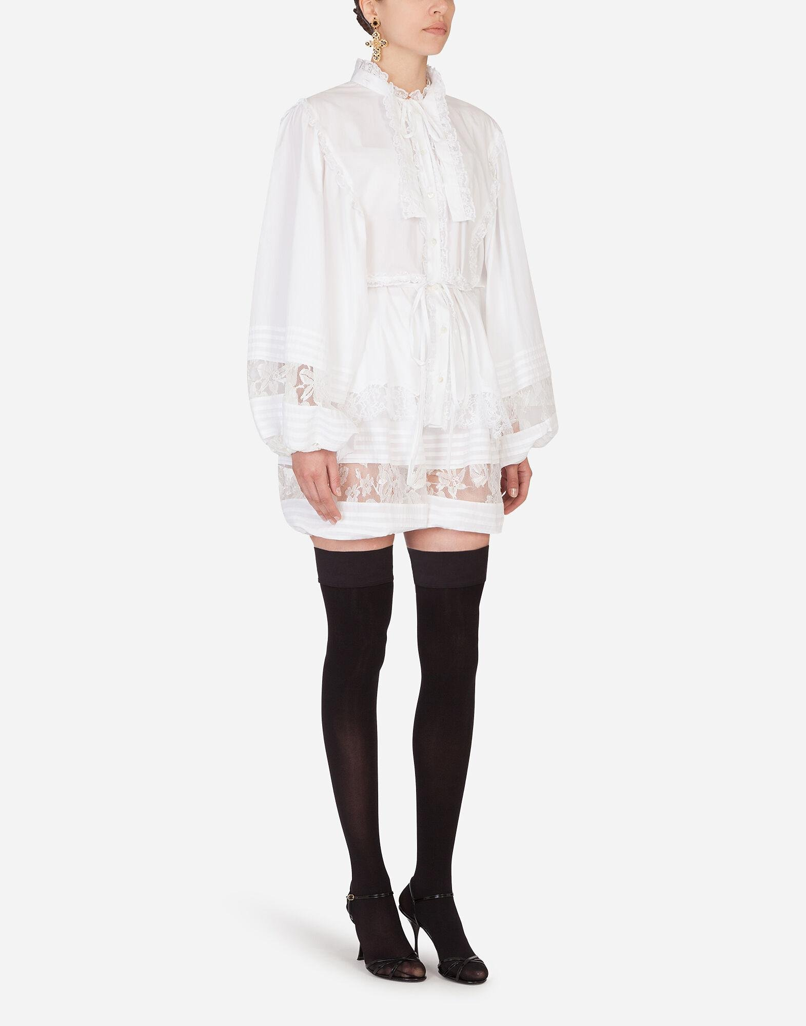 Silk shorts with lace details 3