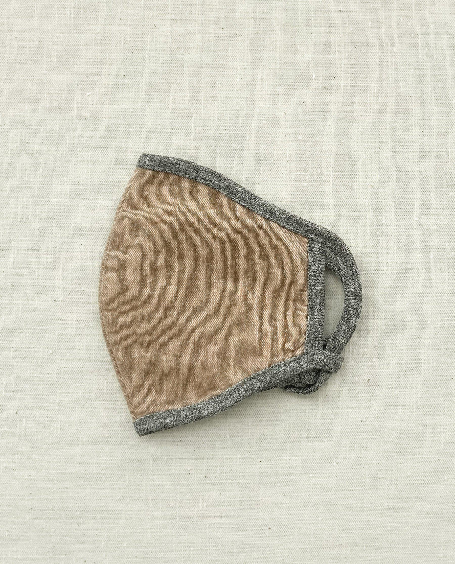 The Face Mask. -- Camel Chambray