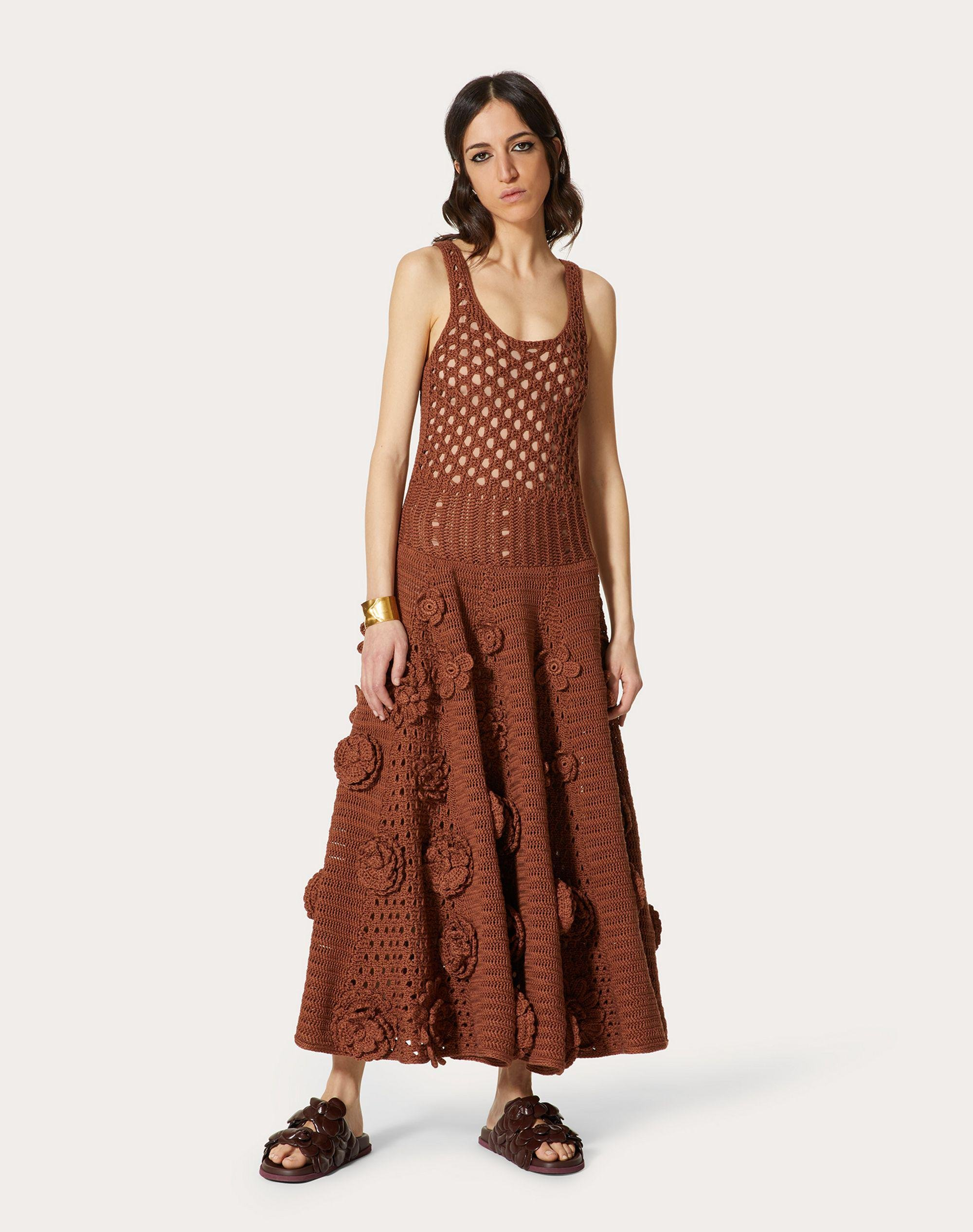 EMBROIDERED COTTON KNITTED DRESS 1