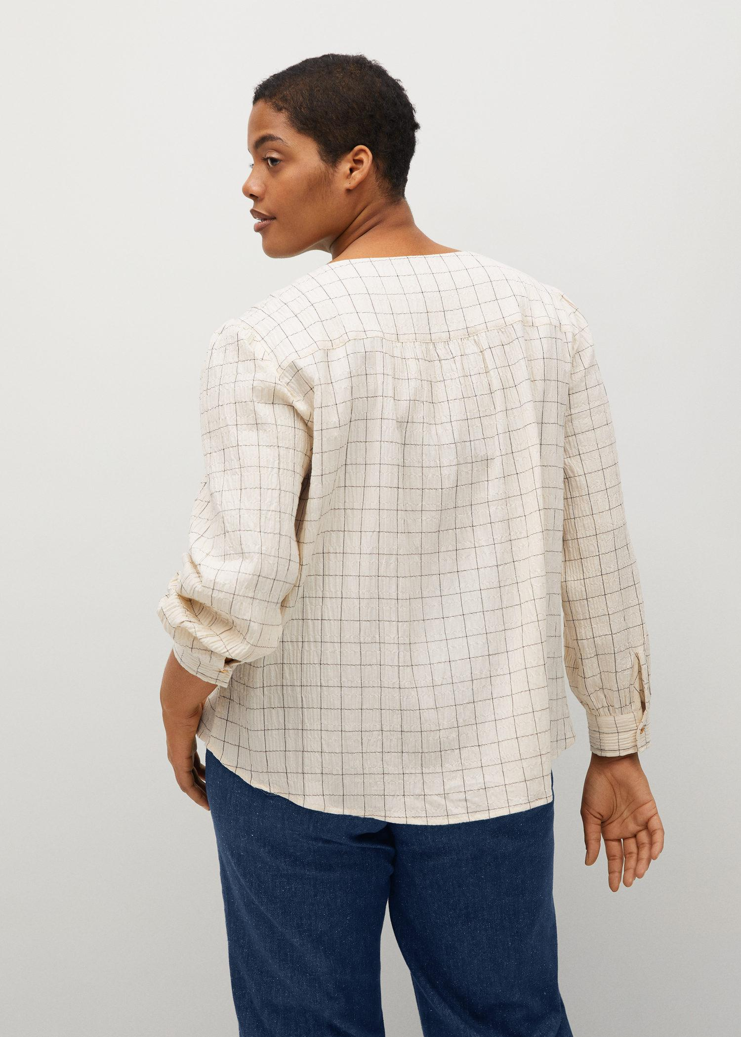 Textured check blouse 2