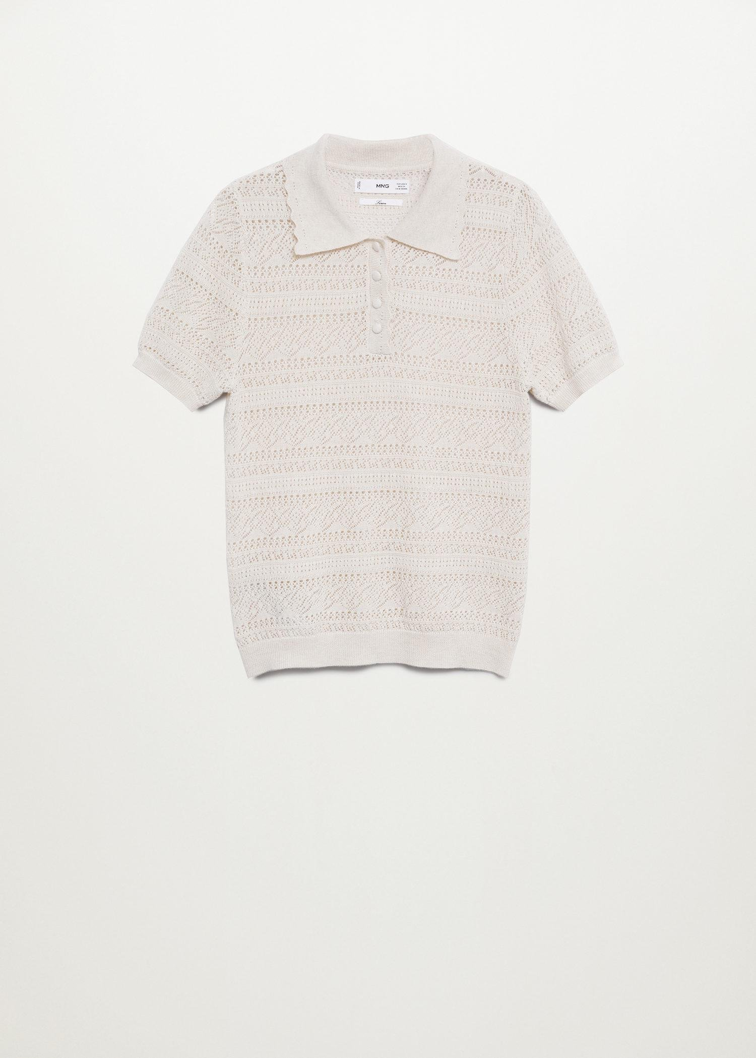 Openwork knit polo 7