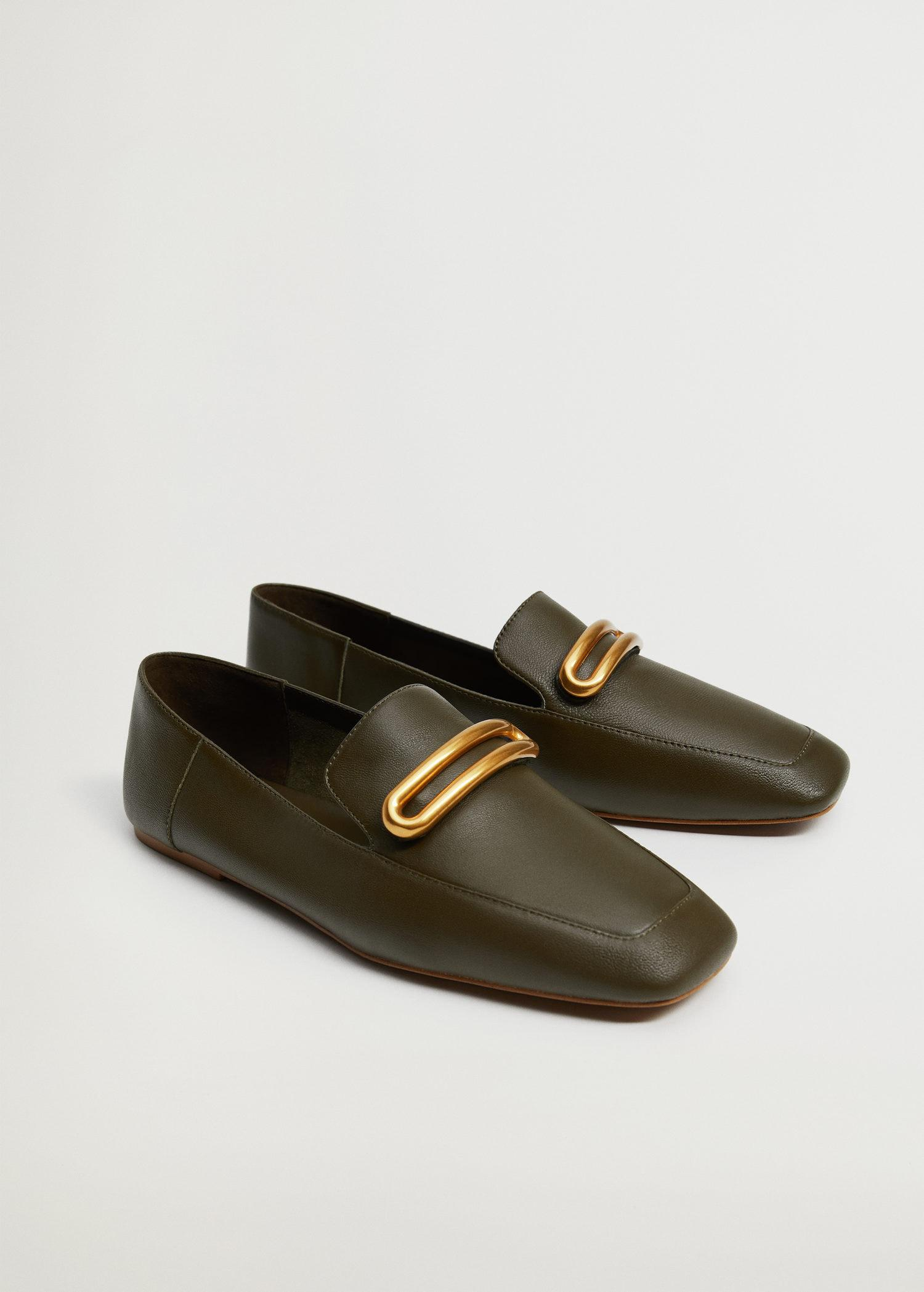 Buckle leather moccasins 1