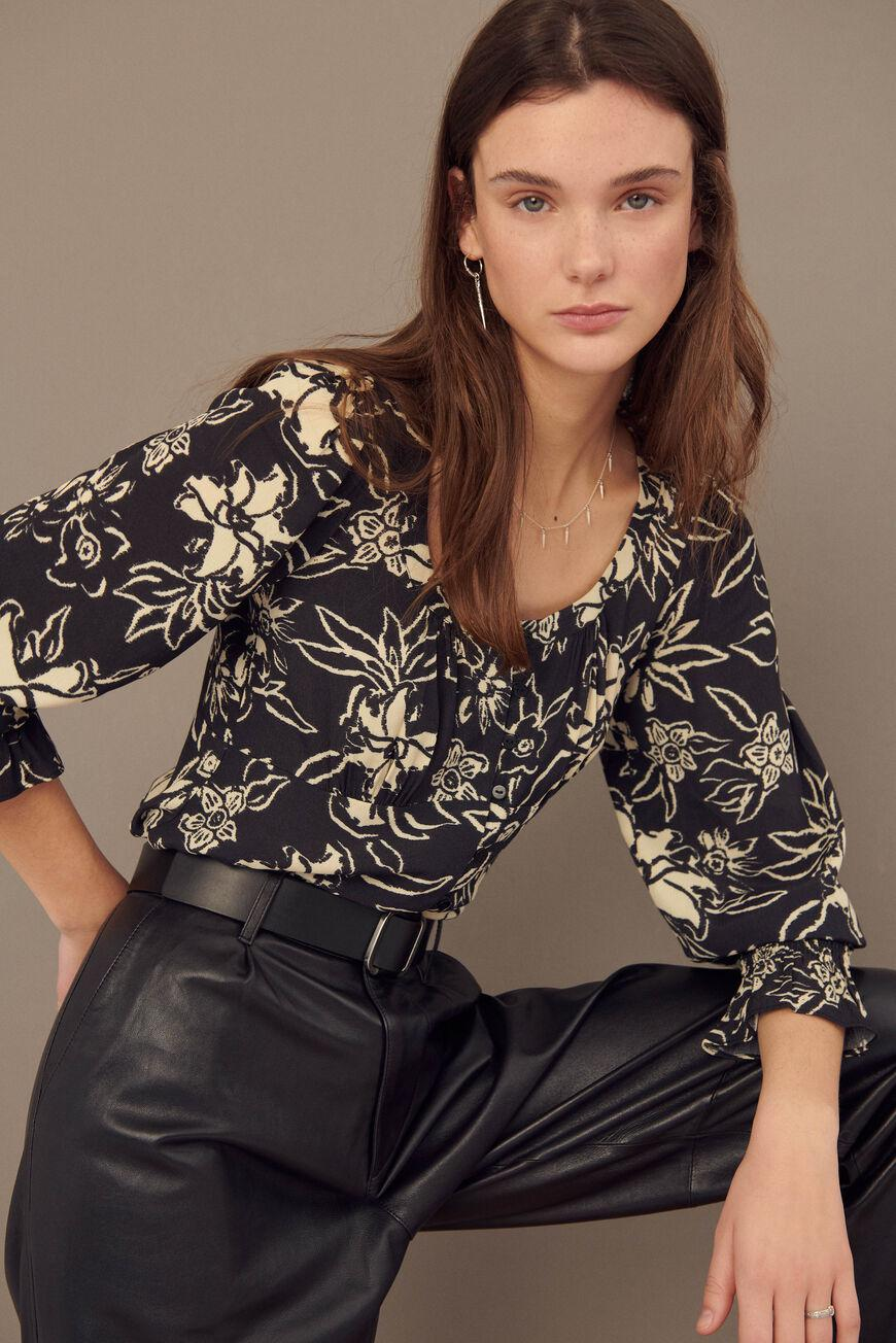 sessee.FLORAL BLOUSE 0