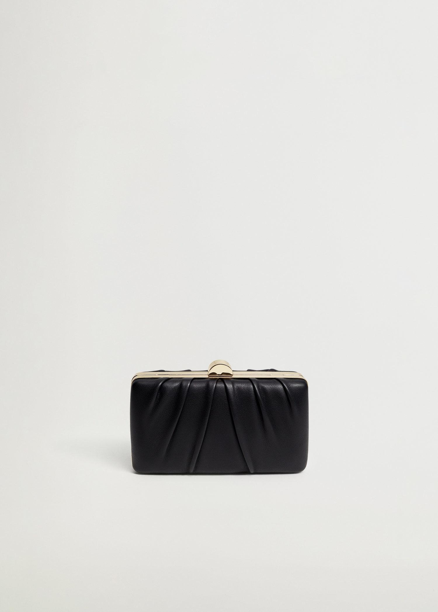 Clutch with pleated detail