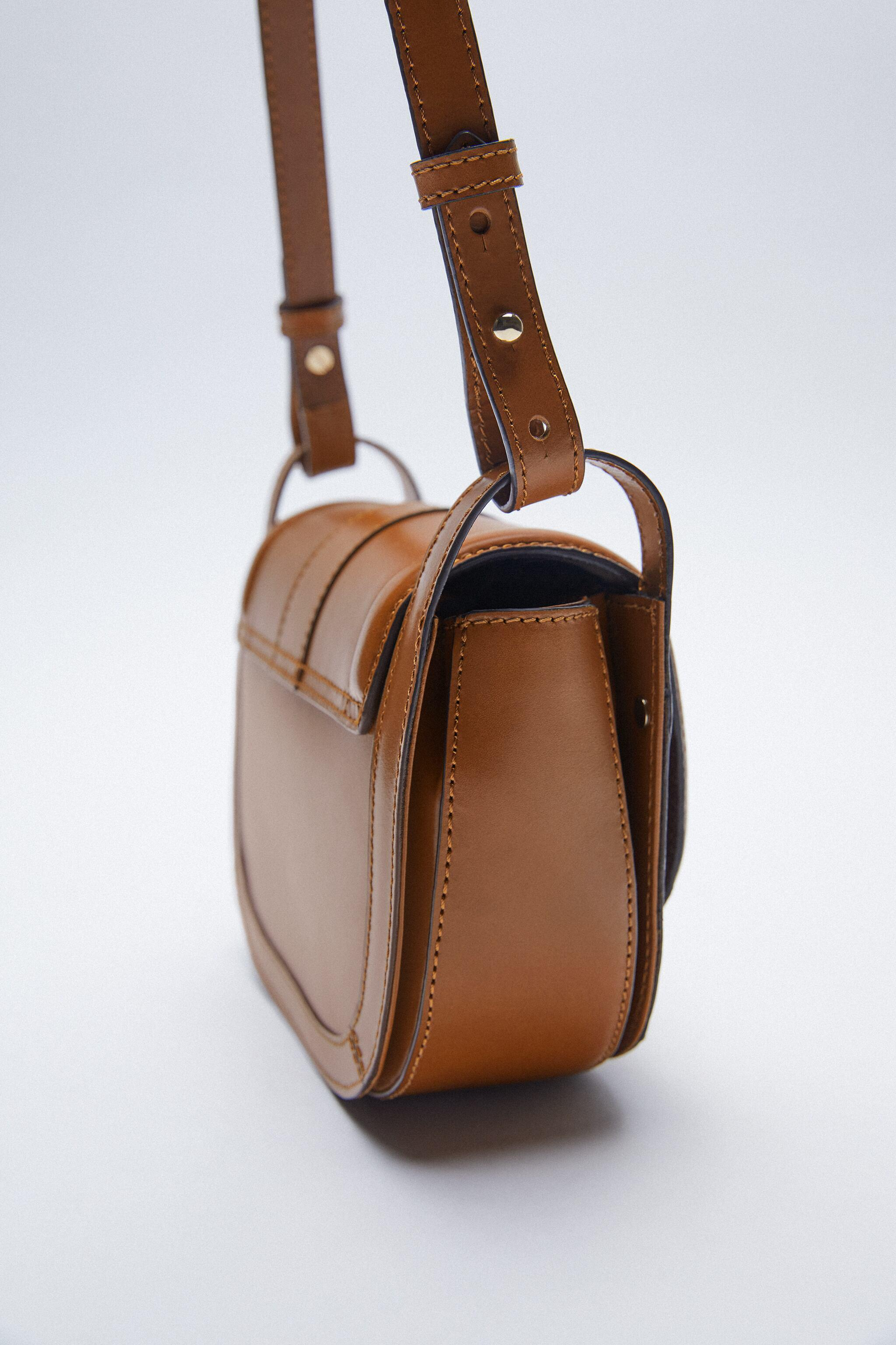 OVAL LEATHER CROSSBODY BAG WITH BUCKLE 4