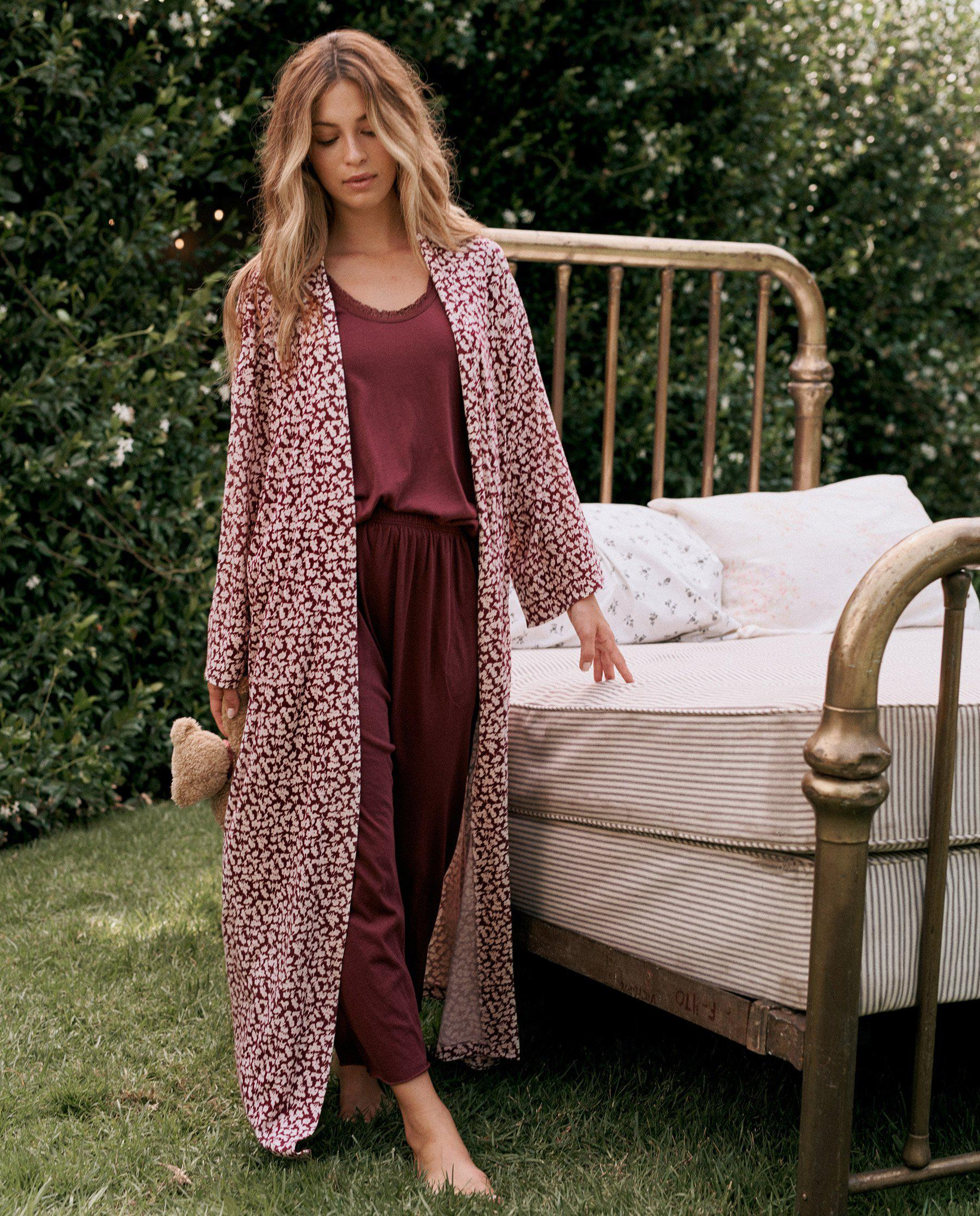 The Robe. -- Maroon Shadow Floral