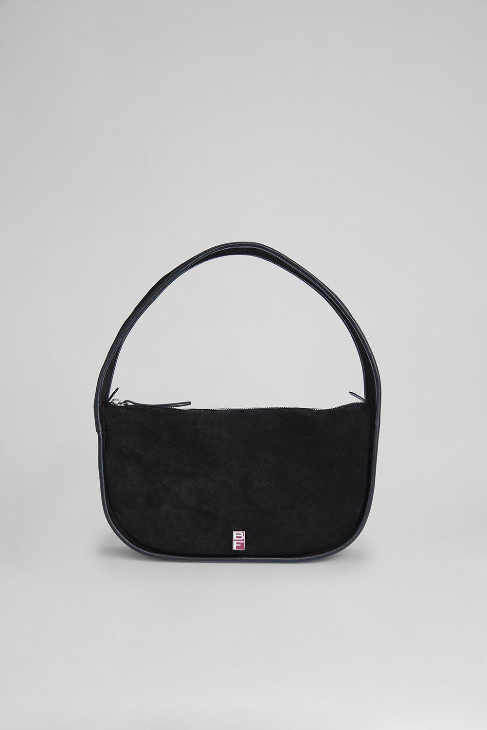 Mechi Black Suede Leather