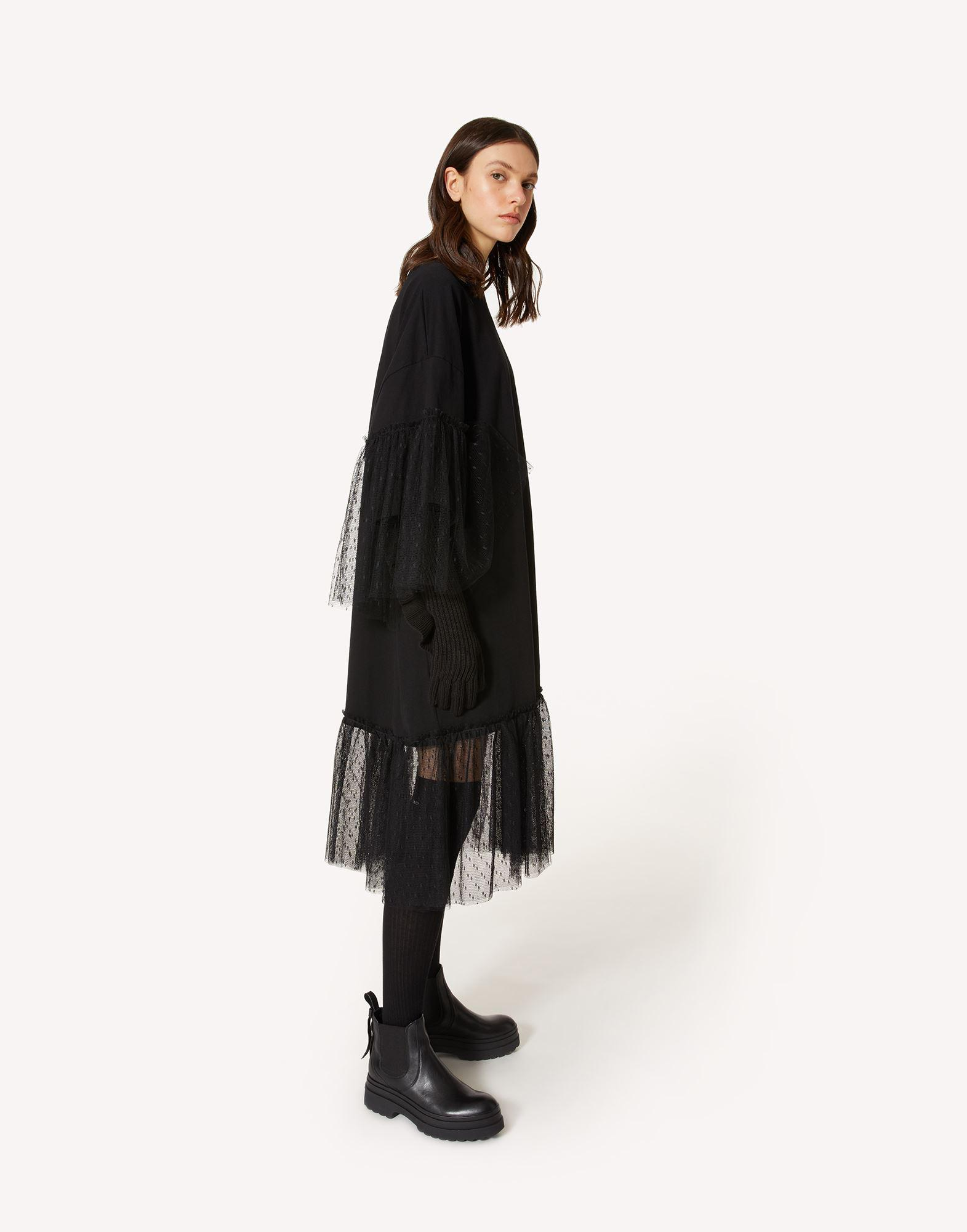 """""""THE BLACK TAG"""" - JERSEY DRESS WITH POINT D'ESPRIT TULLE 2"""