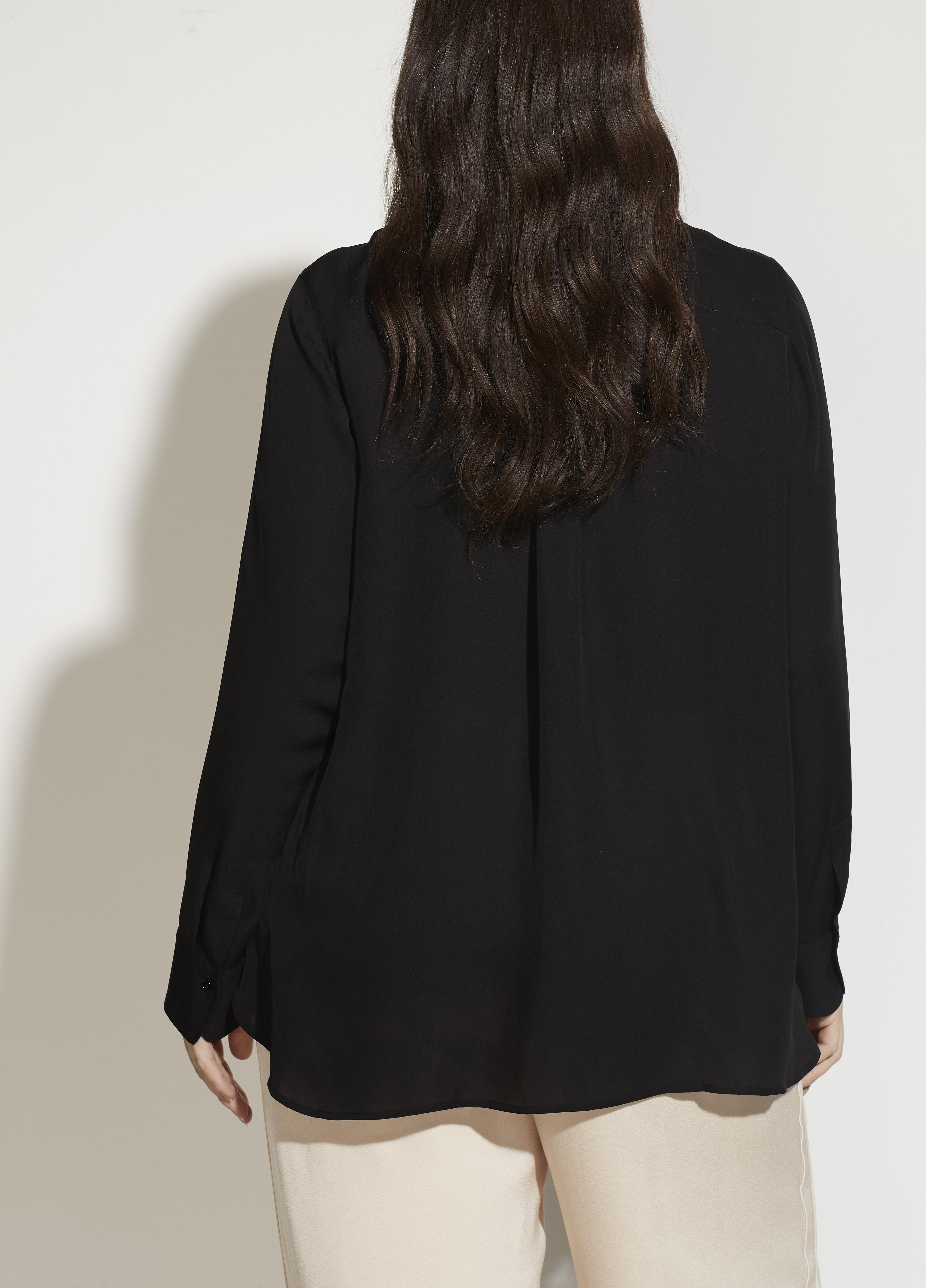 Fitted Stretch-Silk Blouse 3