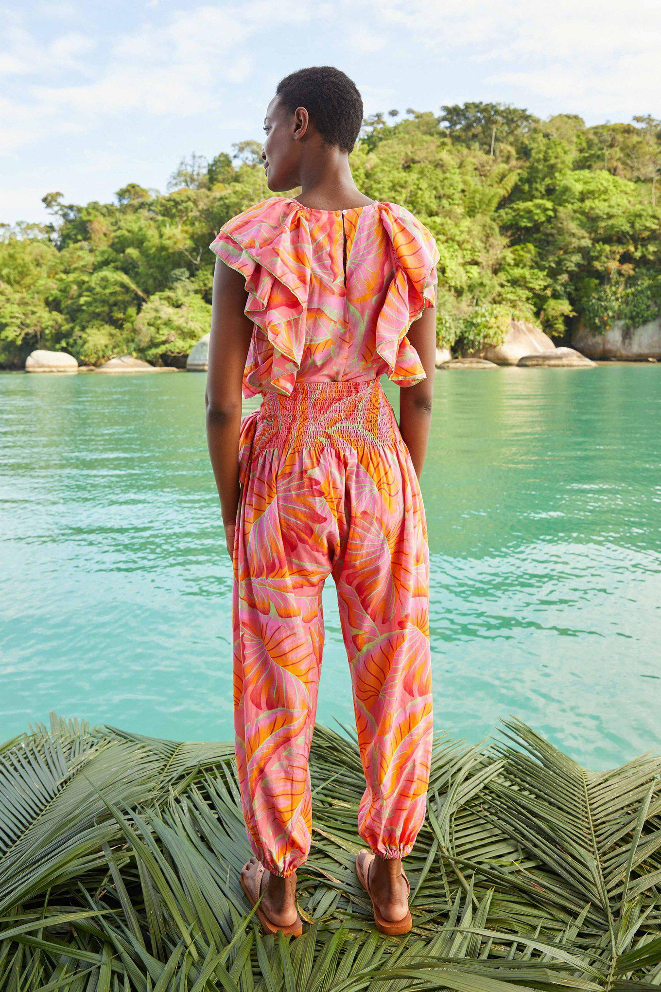 Bright Forest Frilled Top 3