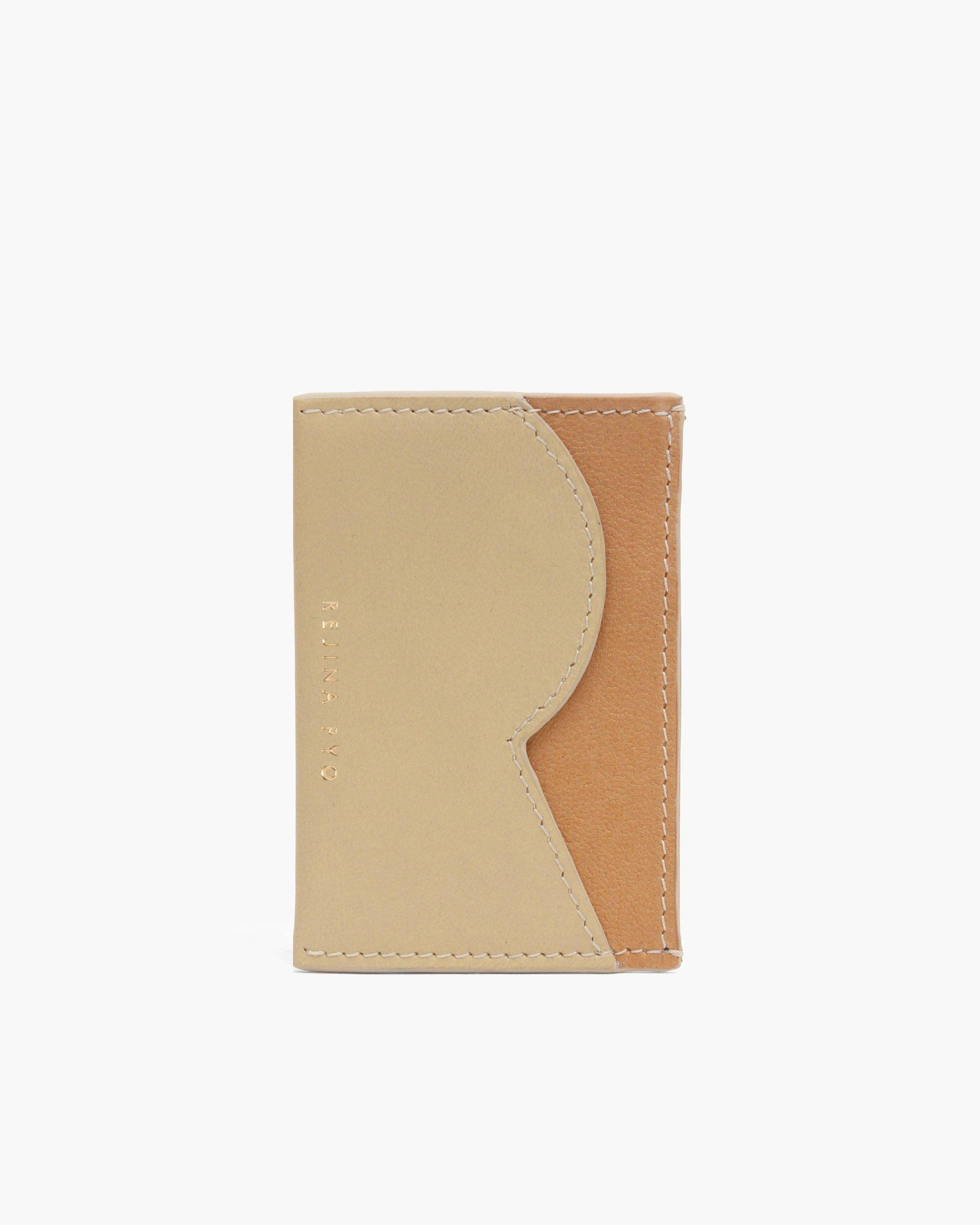 RP Card Holder Leather Beige + Tan + Ivory