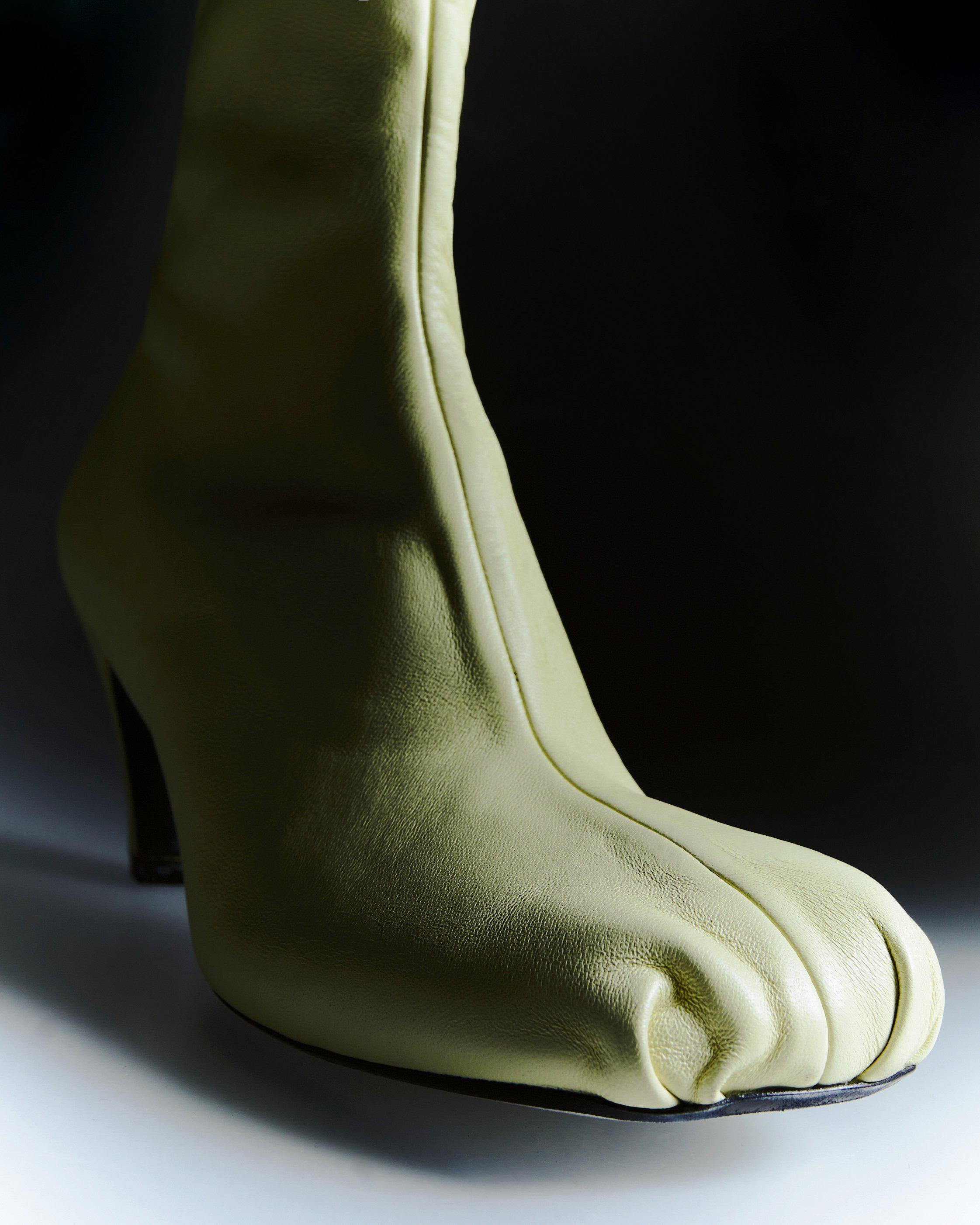 The Normandy Boot in Cream Leather 6