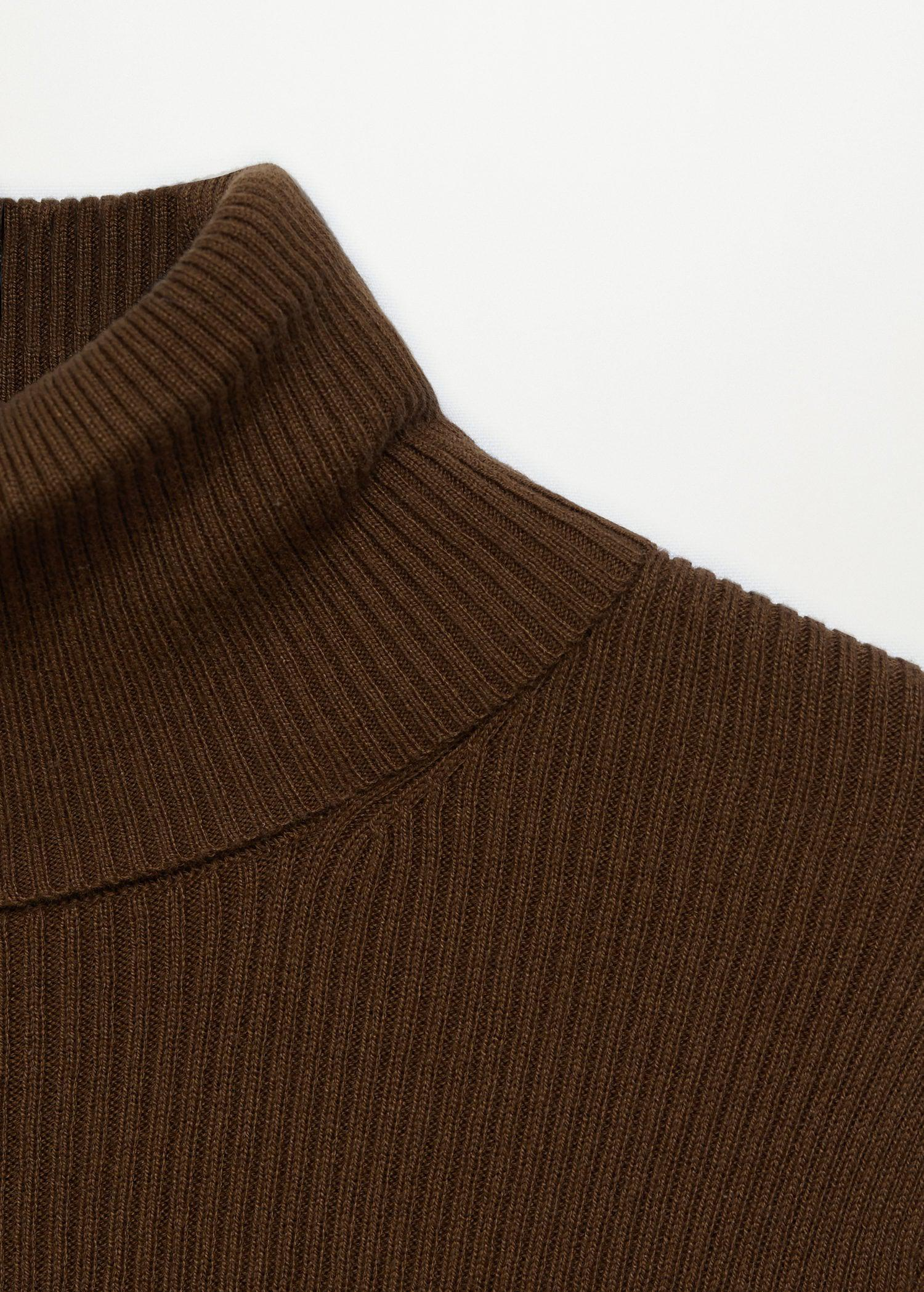 Rolled neck cable sweater 6