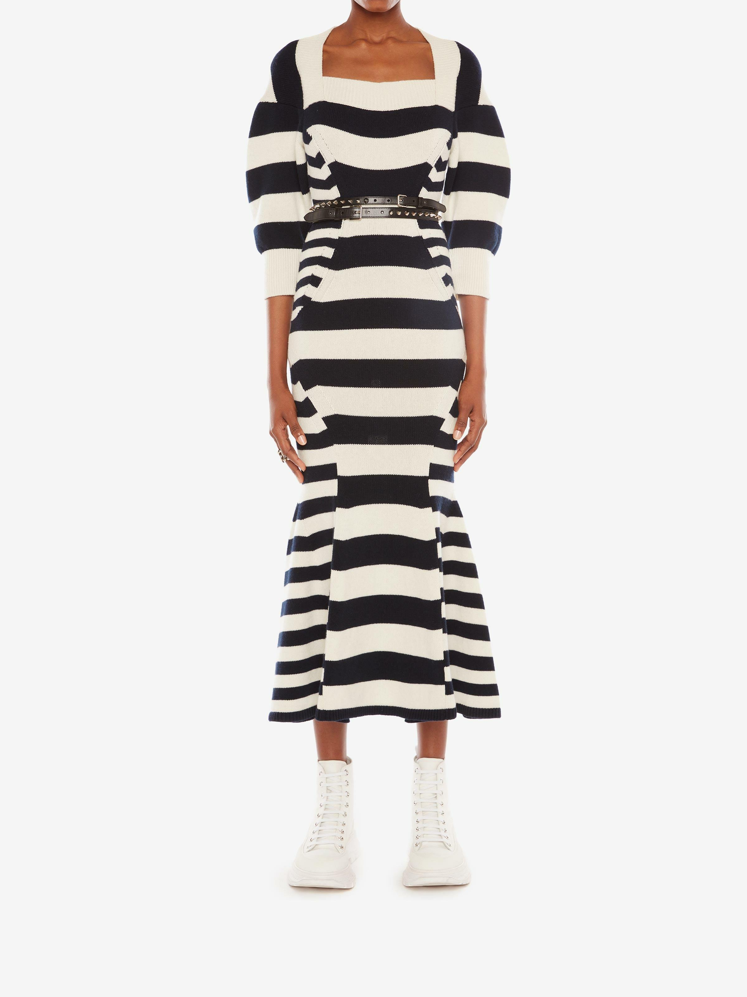 Patchwork Stipe Knitted Dress