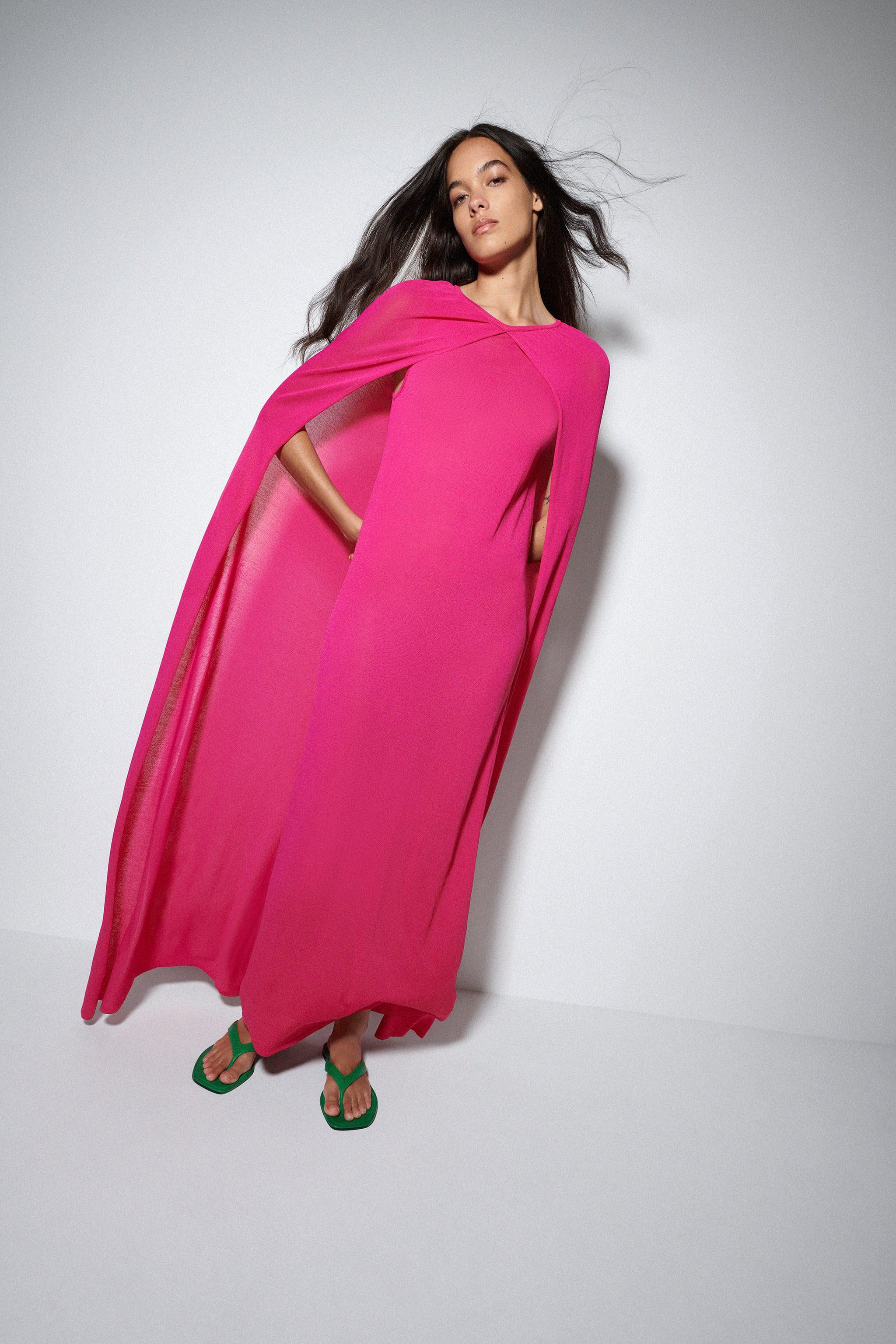 DRESS WITH CAPE LIMITED EDITION