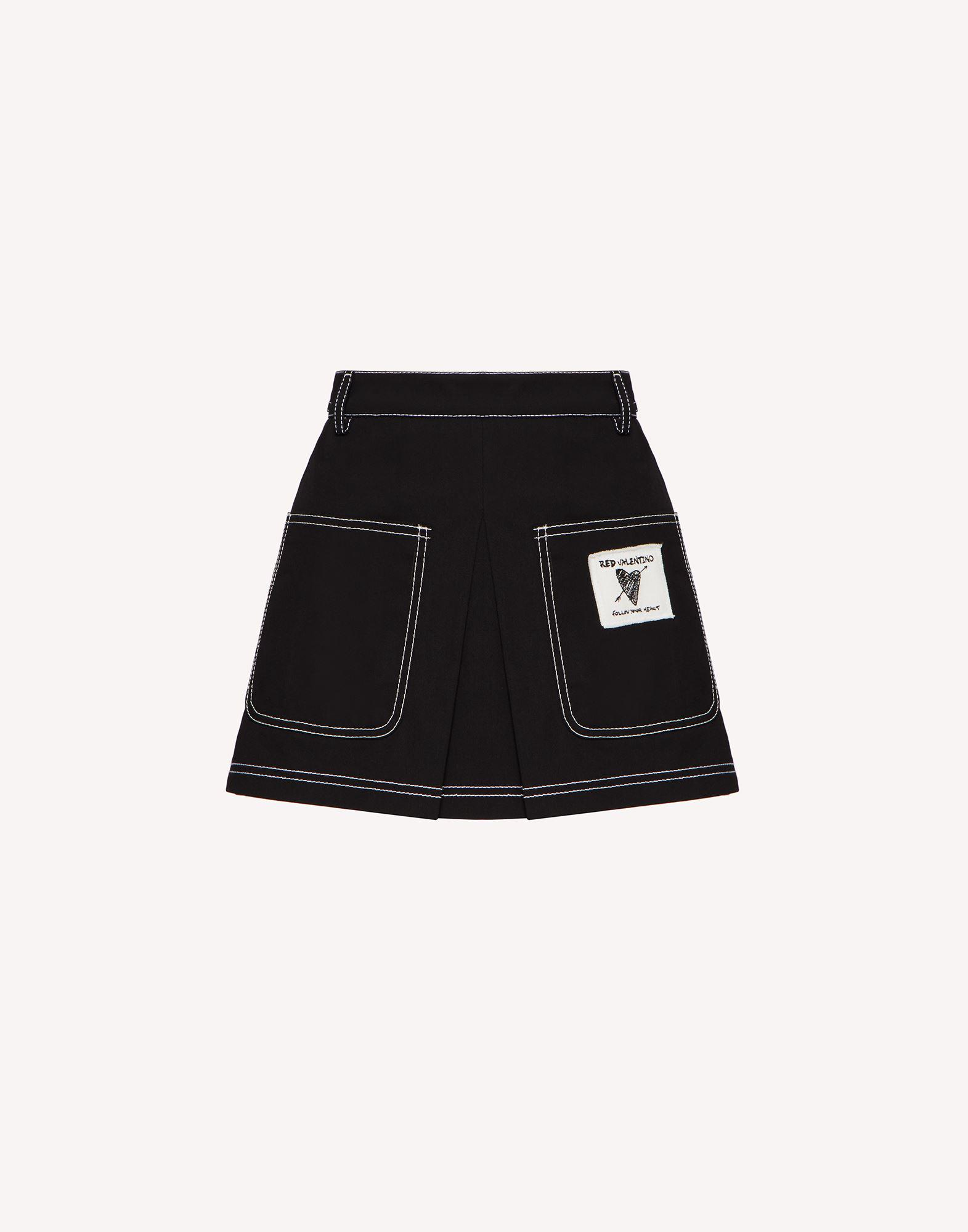 STRETCH GABARDINE SHORTS WITH CONTRASTING STITCHING DETAIL 4