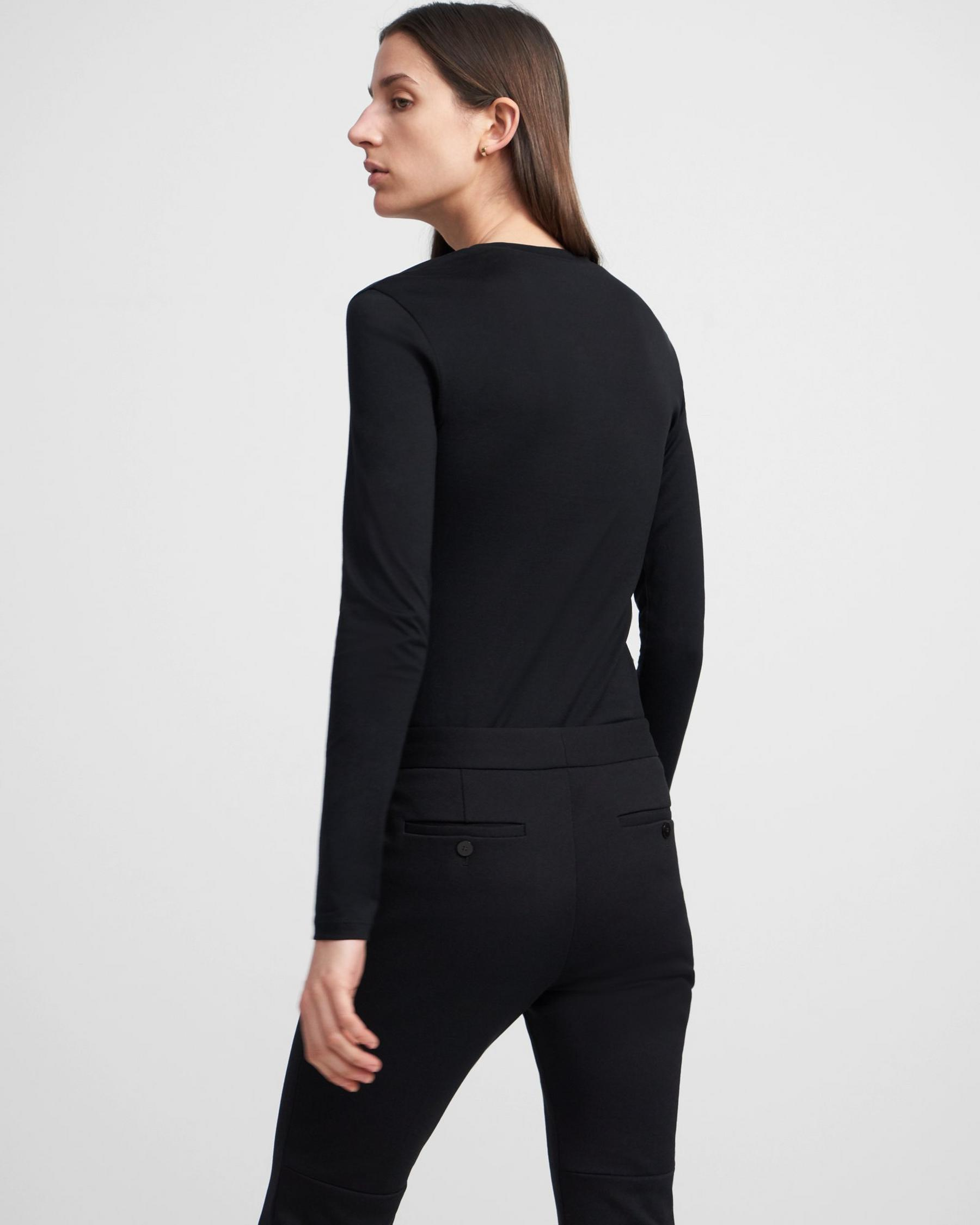 Long-Sleeve Tiny Tee in Cotton 1