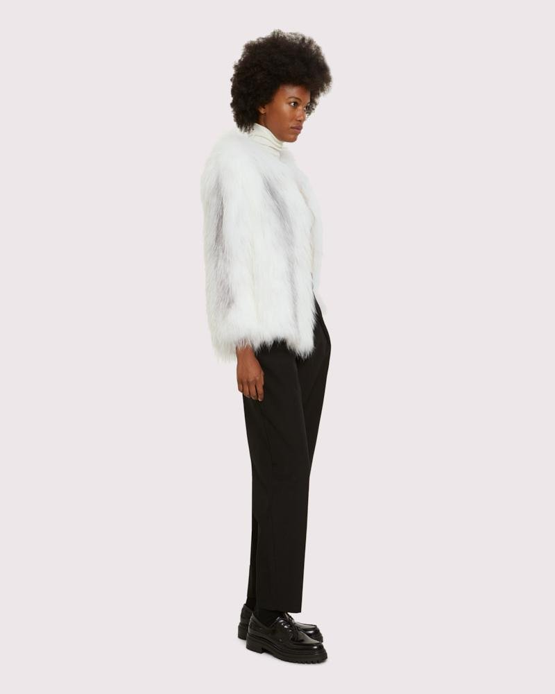 knitted arctic marble fox jacket 1