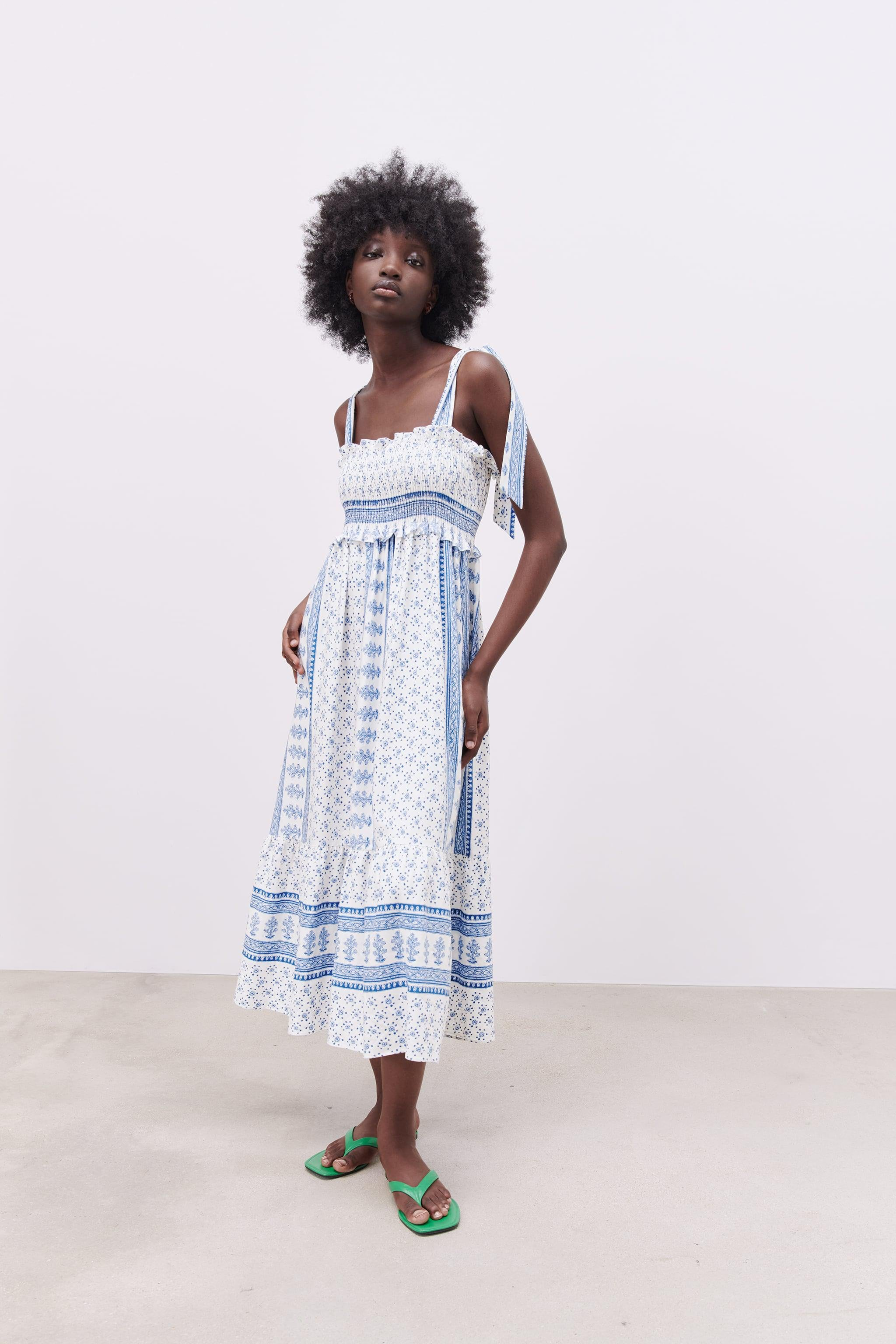 PRINTED DRESS WITH STRAPS