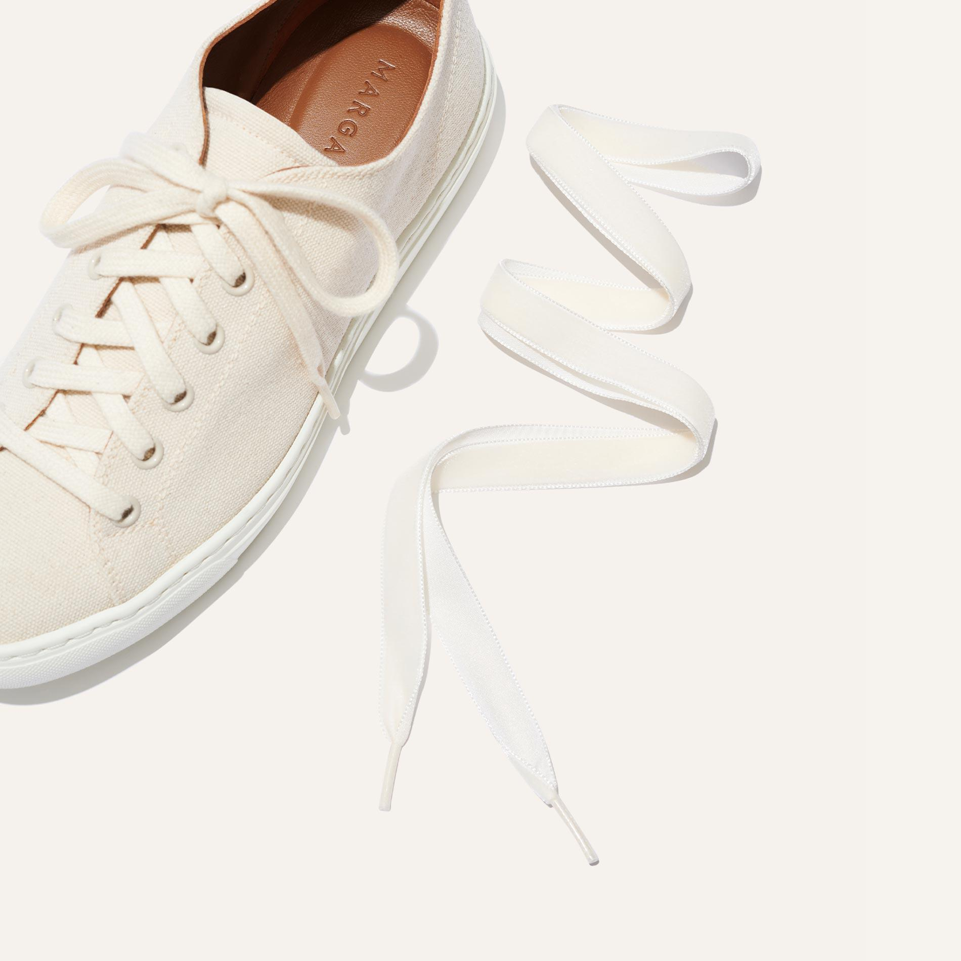 The Summer Sneaker - Ivory Canvas 5