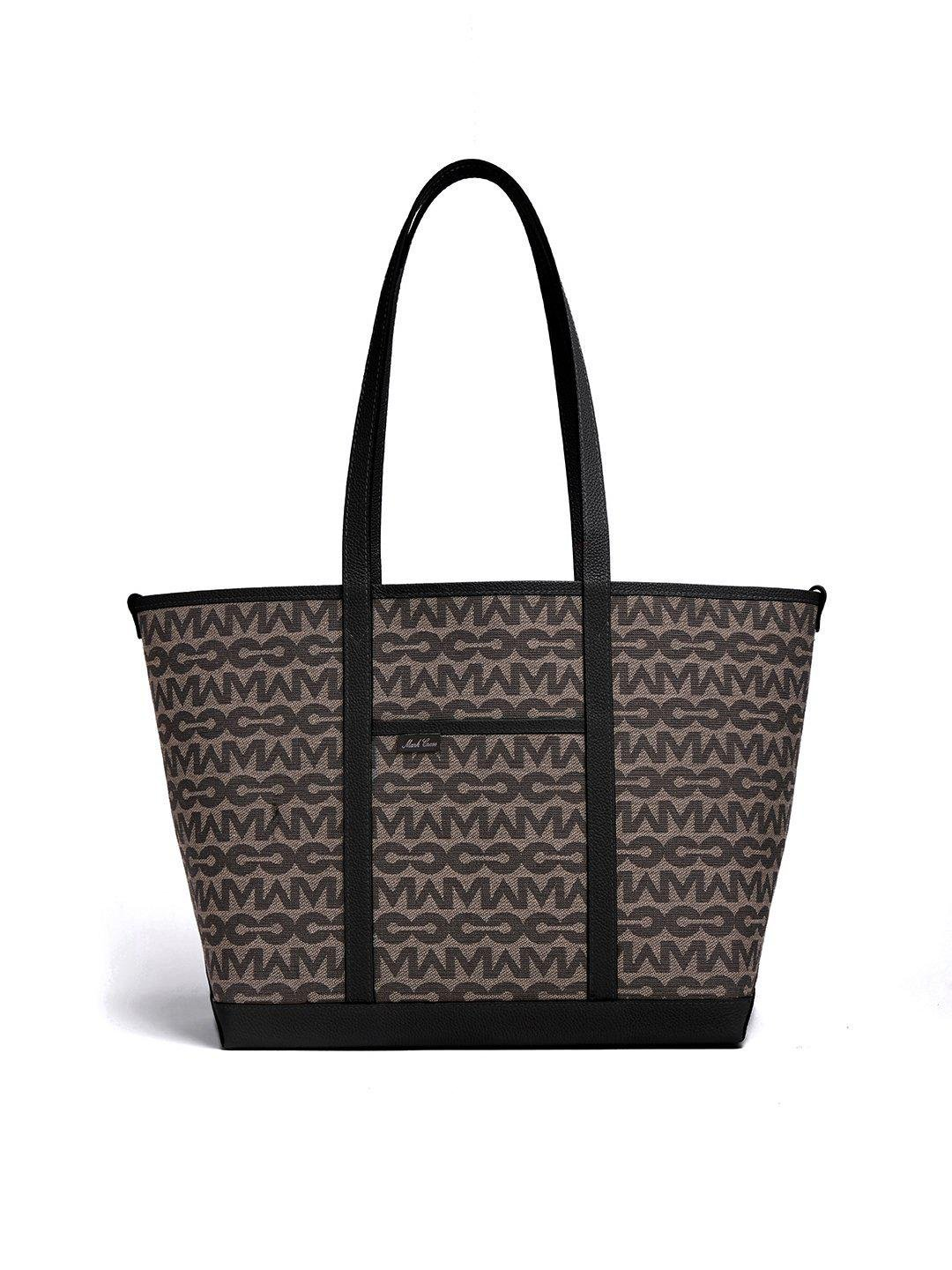 The Essentials Upcycled MC Jacquard & Leather Tote Bag