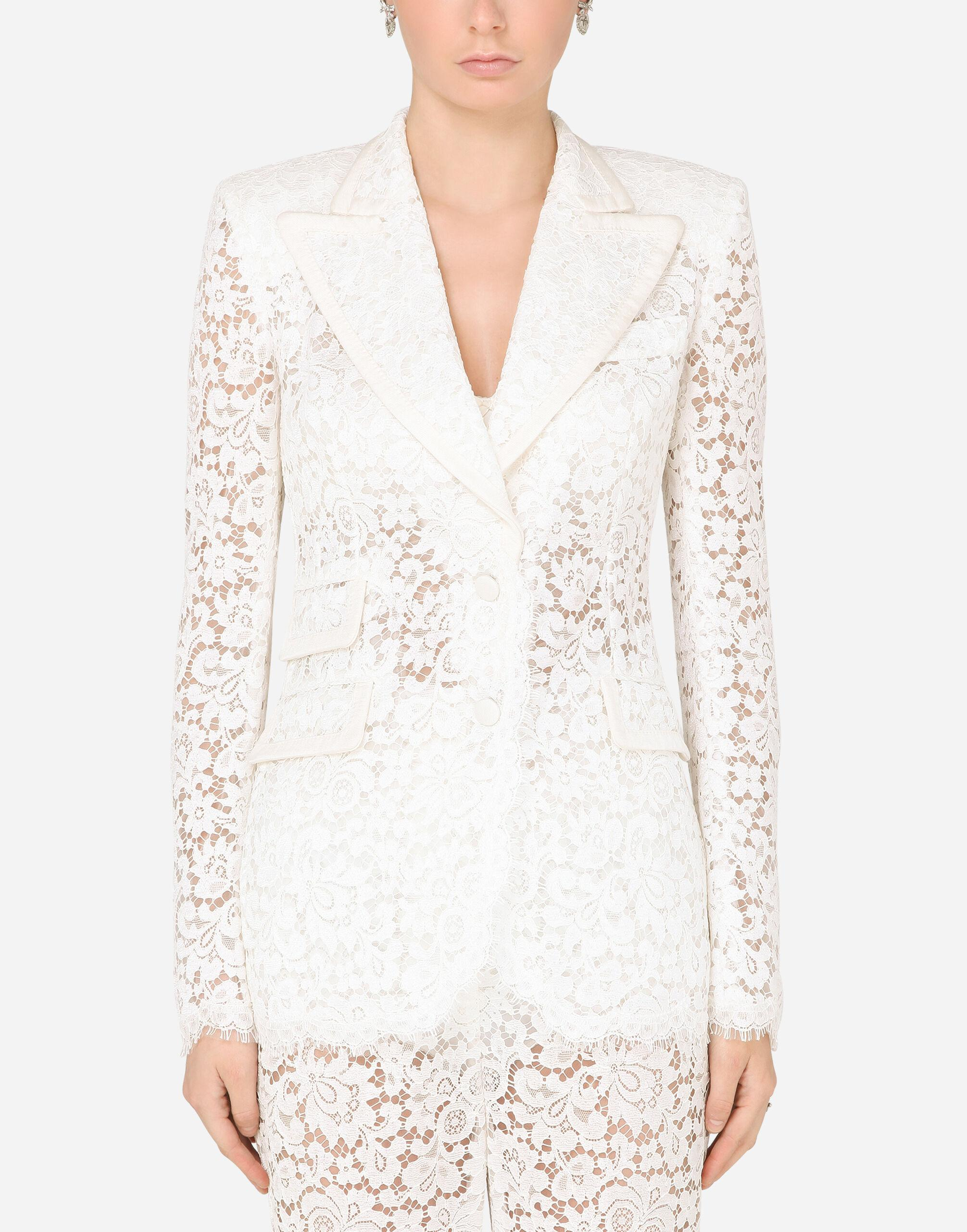 Lace jacket with edge detailing