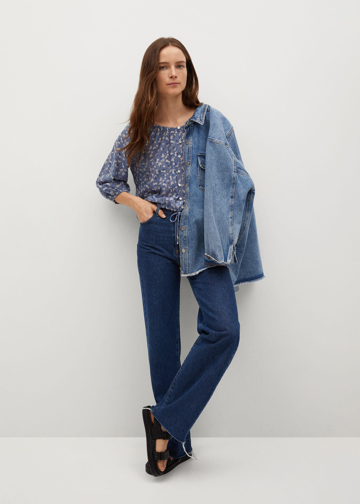 Buttoned printed blouse 1