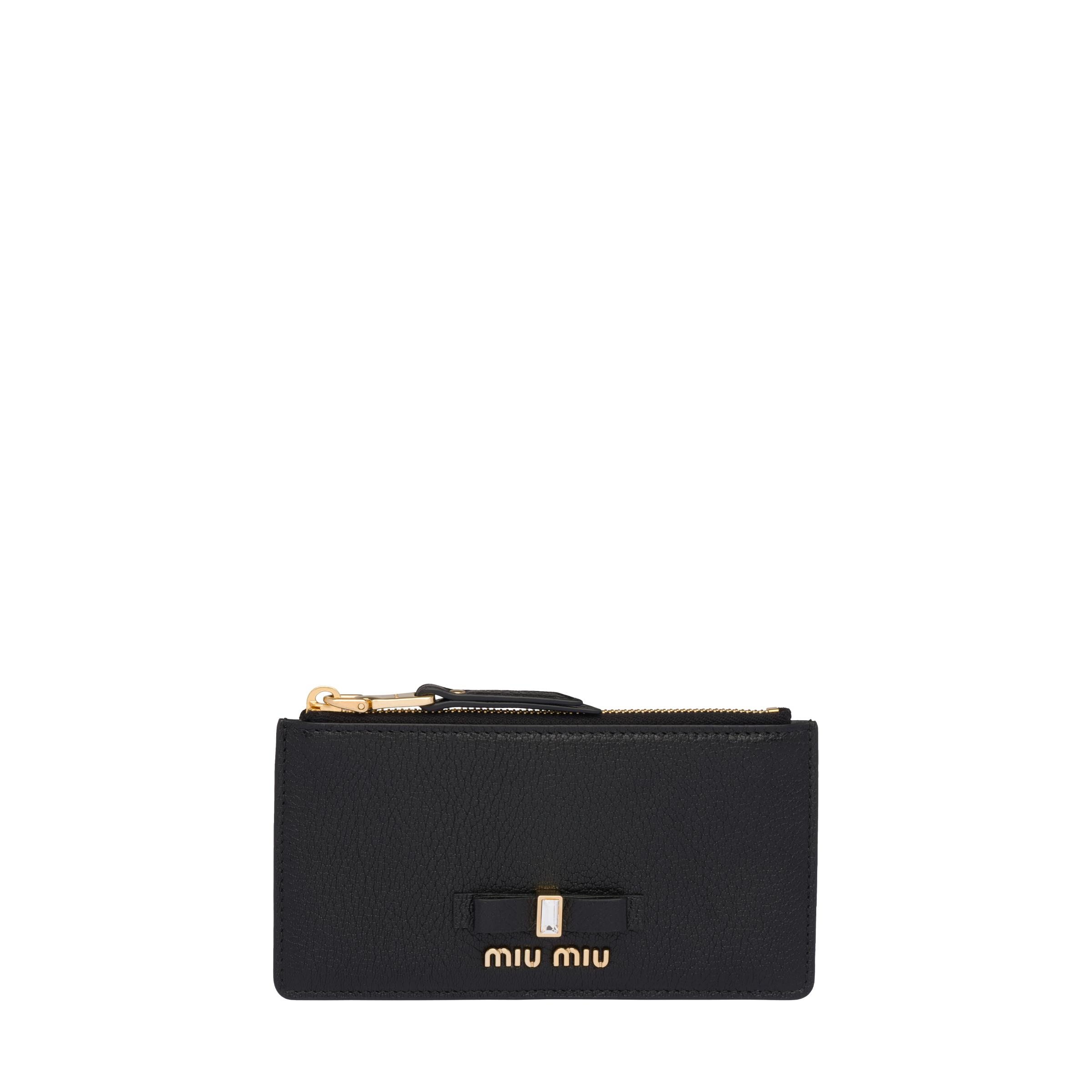 Madras Leather Coin Purse Women Black