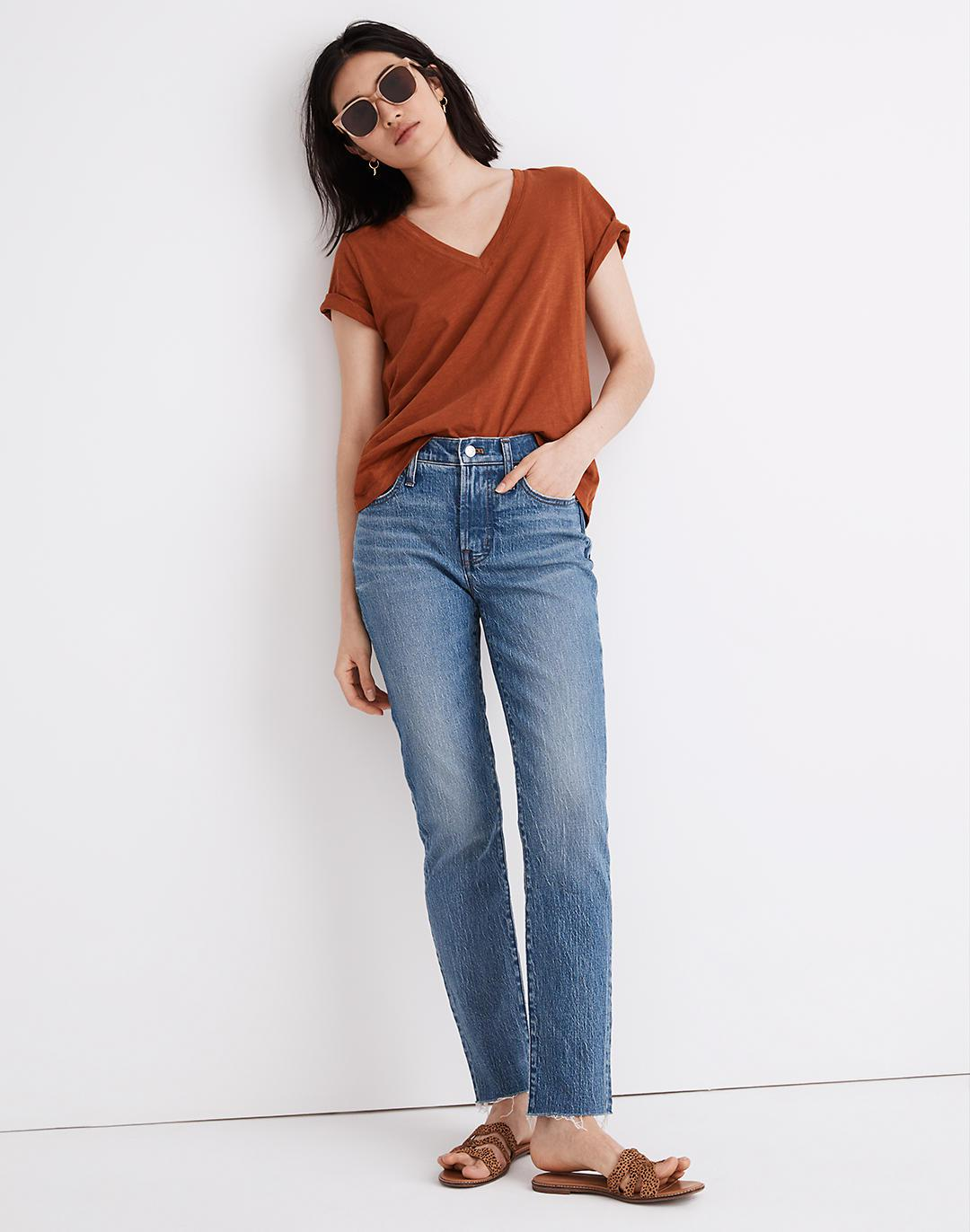 The Petite Mid-Rise Perfect Vintage Jean in Enmore Wash