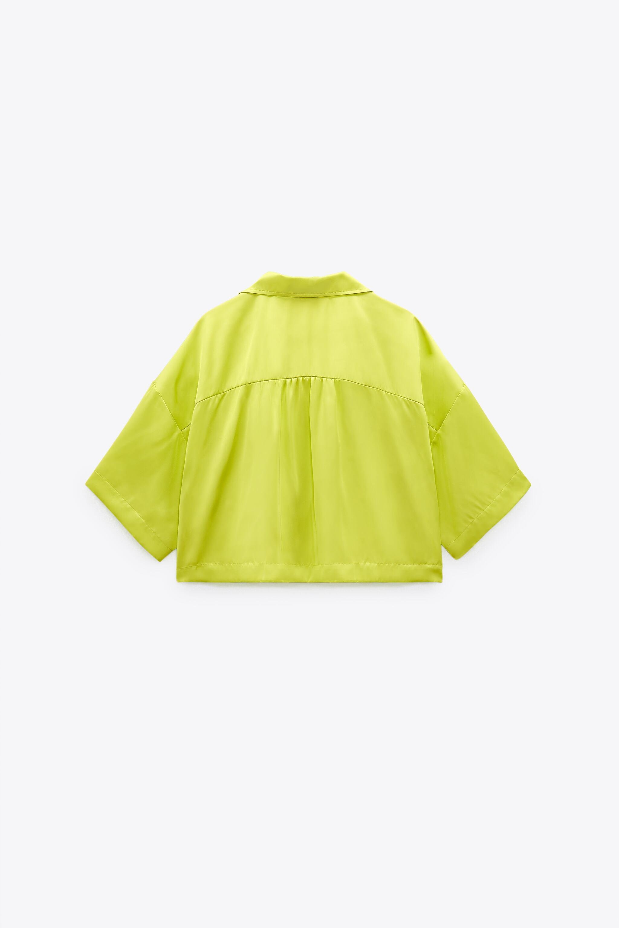 SATIN EFFECT CROPPED BLOUSE 1