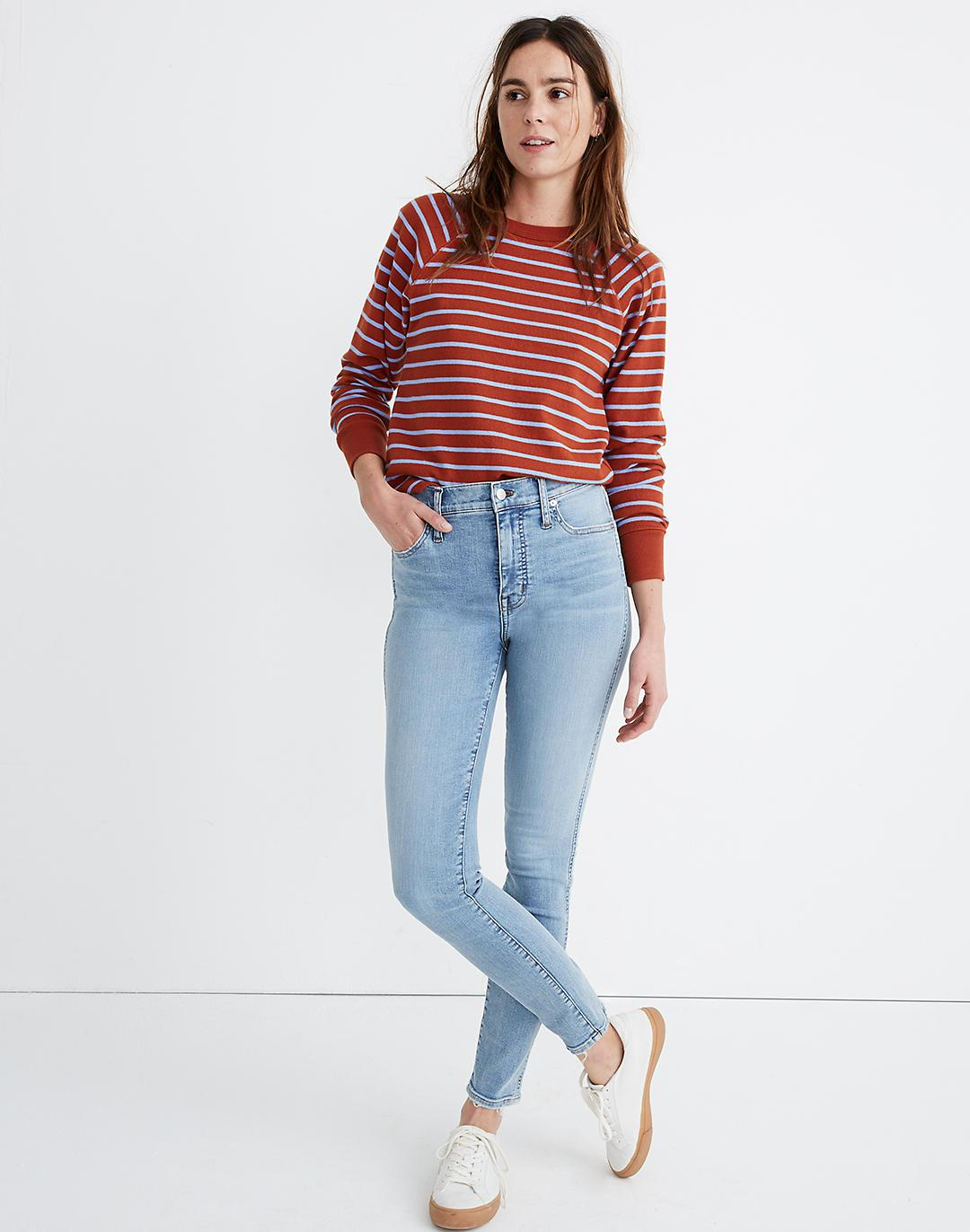 """10"""" High-Rise Skinny Jeans in Wheeler Wash"""