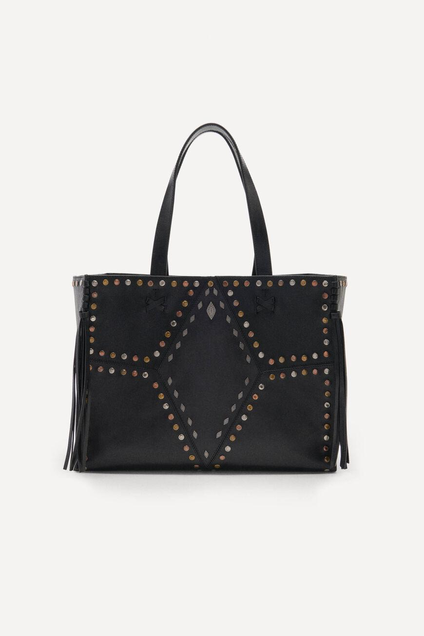 cabas.LEATHER TOTEBAG