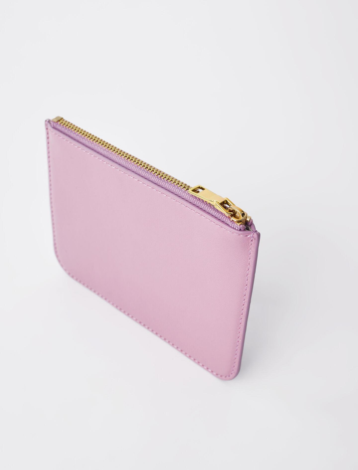 ZIP-UP EMBOSSED LEATHER POUCH 4