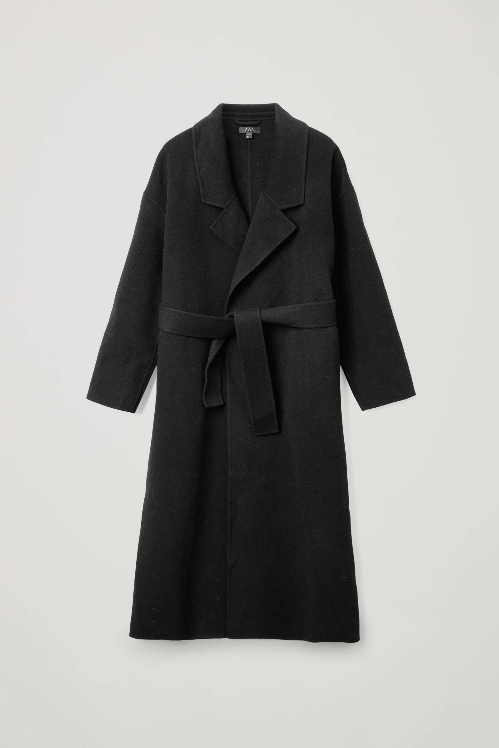 WOOL MIX RELAXED BELTED COAT