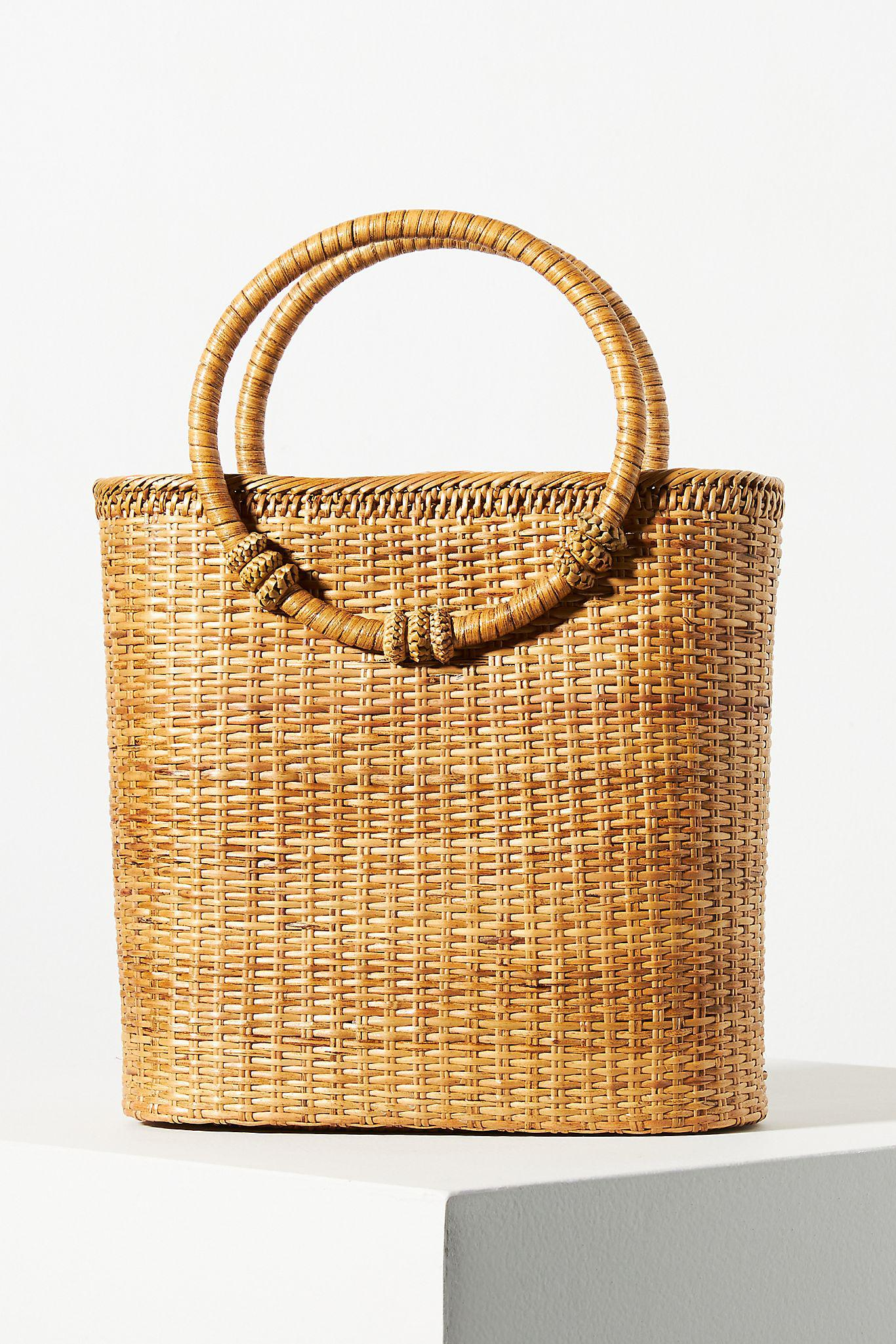 Bamboo Ring Handle Clutch 1