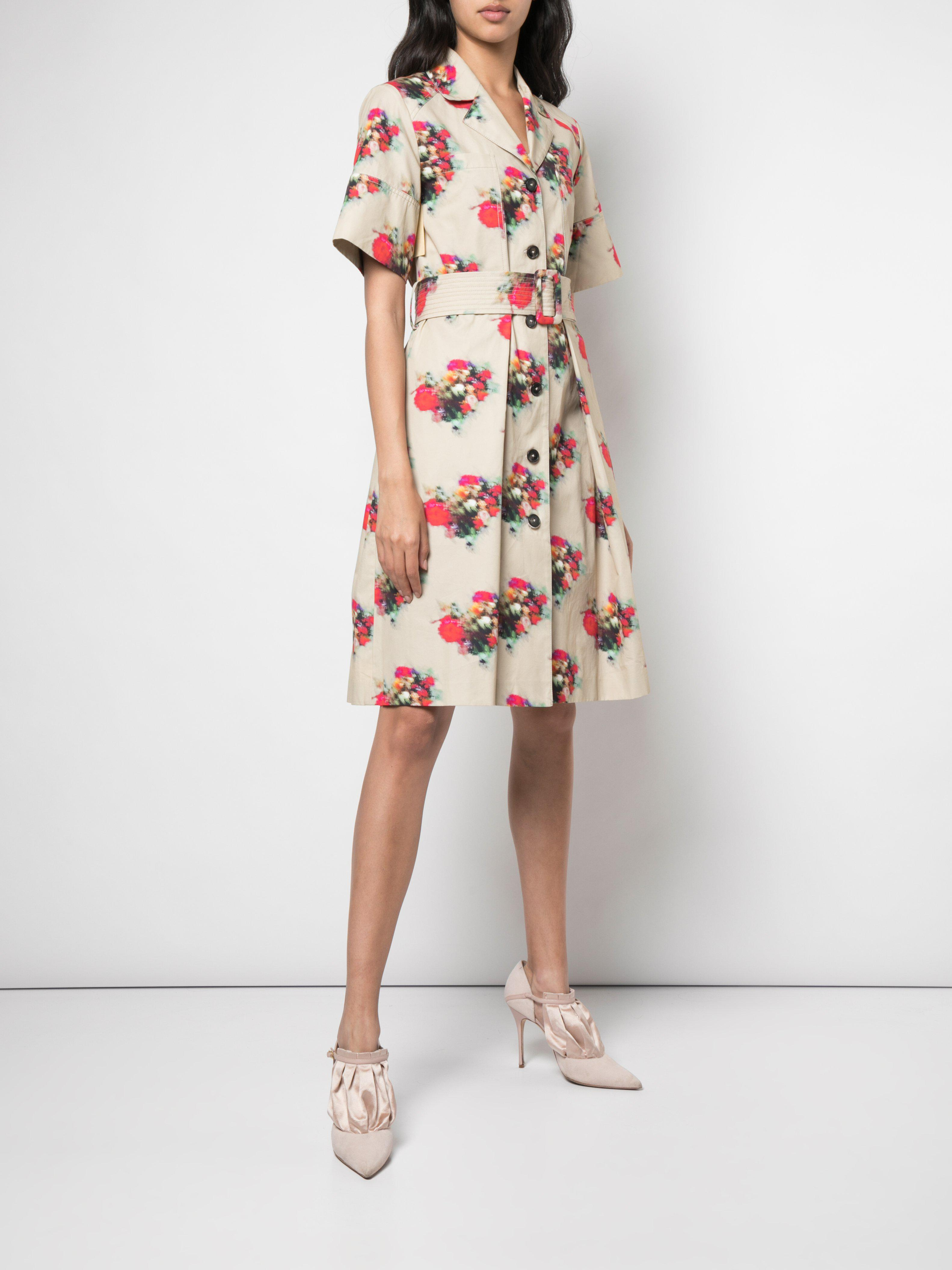 SHIRT DRESS IN PRINTED COTTON TWILL