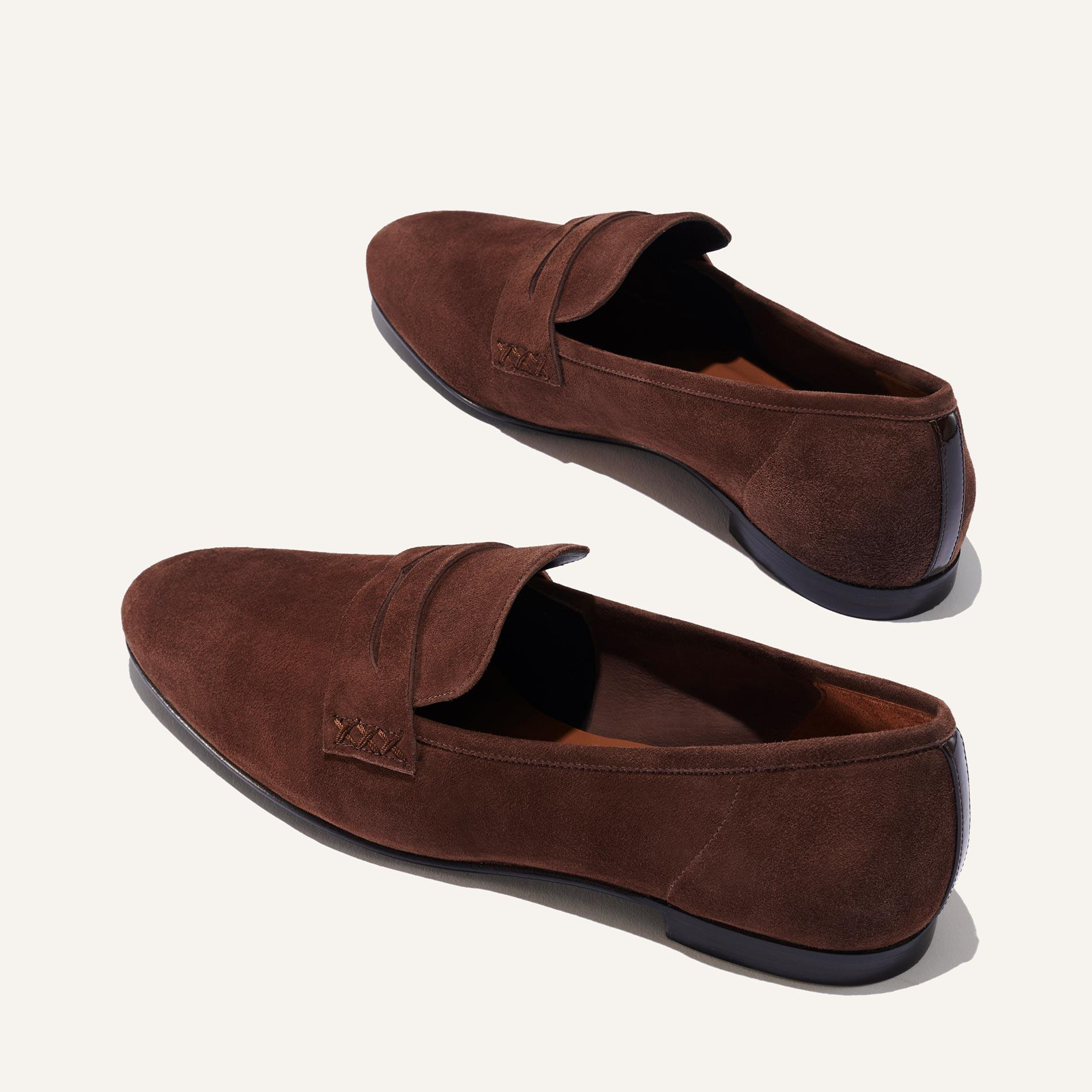 The Penny - Walnut Suede 2